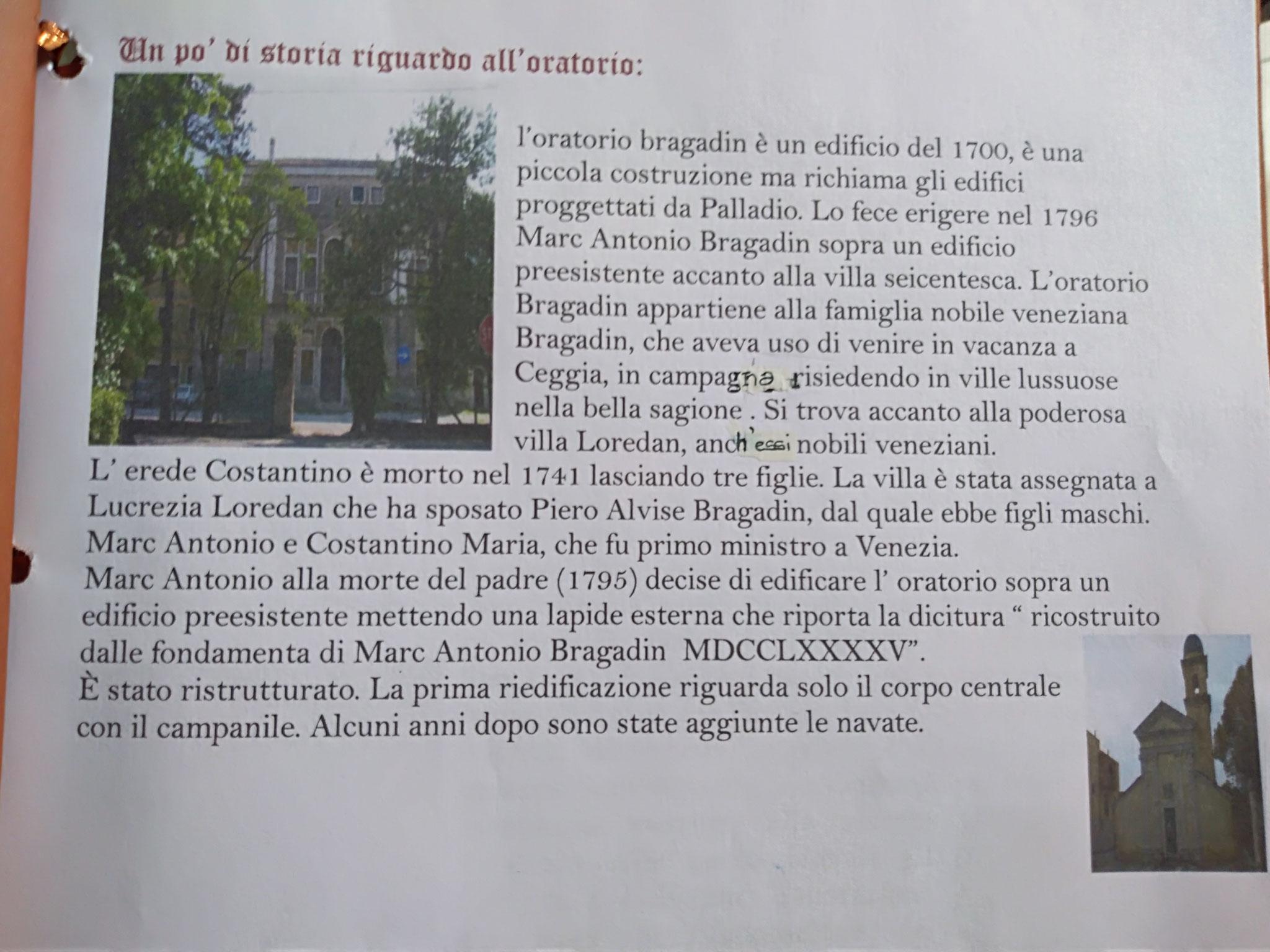 6  L'Oratorio Bragadin