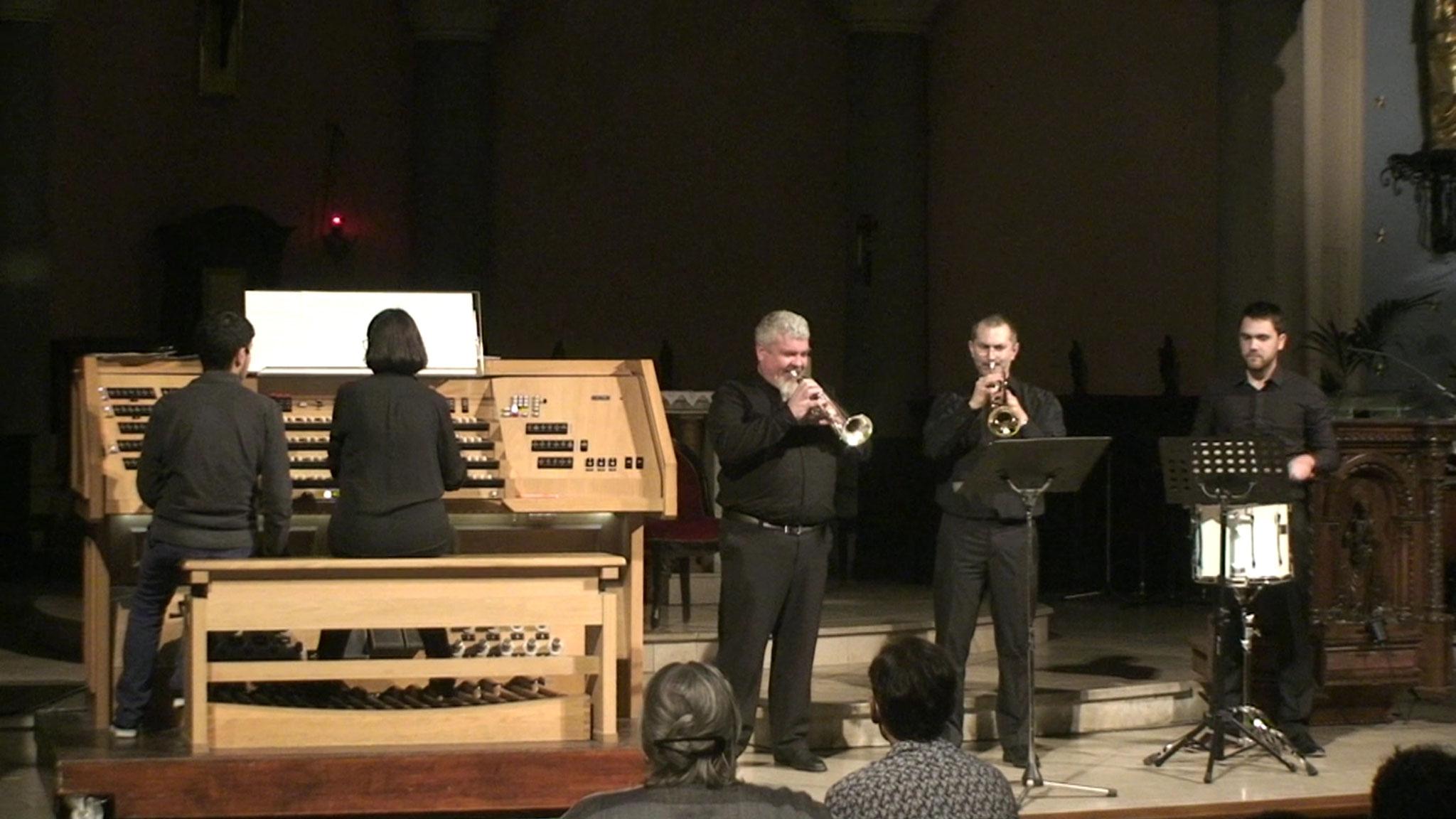 Jehan Alain 2016 - Marche des Horaces et Curiaces, Catherine Hyvert et Andrès Ramos (percussions)