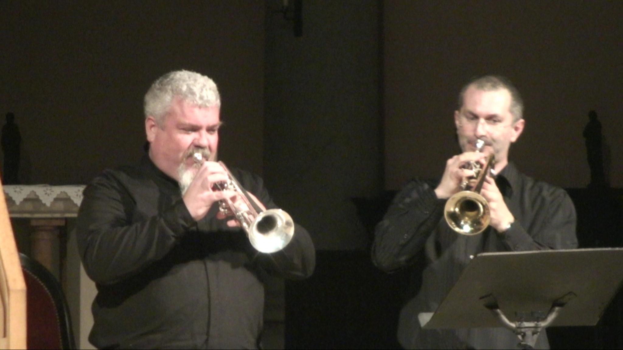 Jehan Alain 2016 - Marche des Horaces et Curiaces, Fred Borri et Stéphane Catalanotti (trompettes)