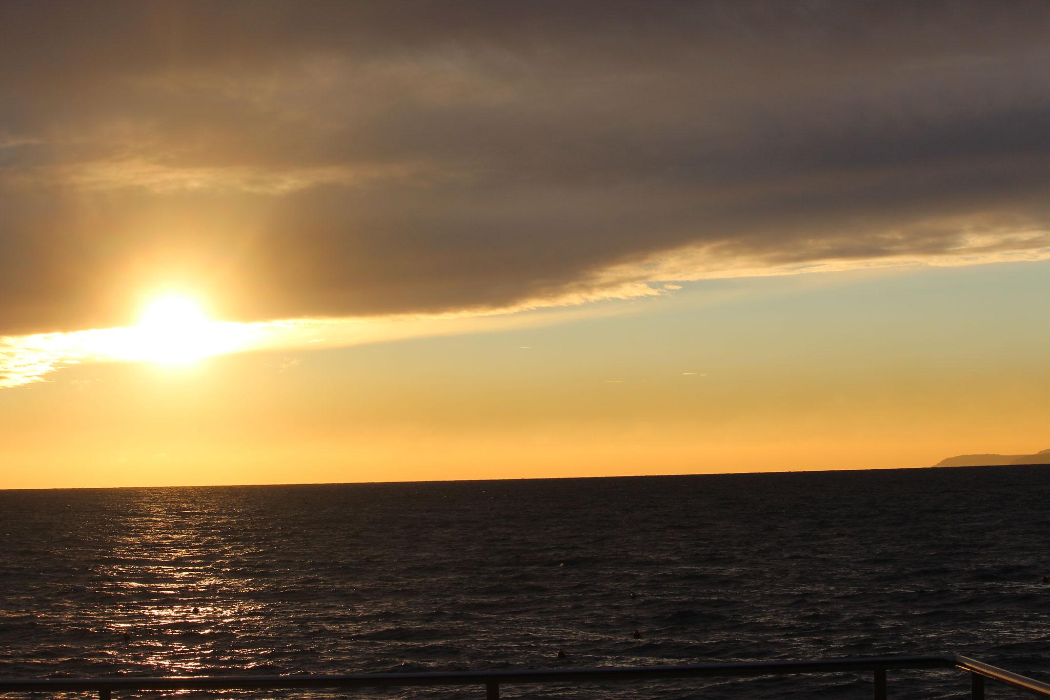 Was für tolle Sonnenauf- u. untergänge, einfach herrlich
