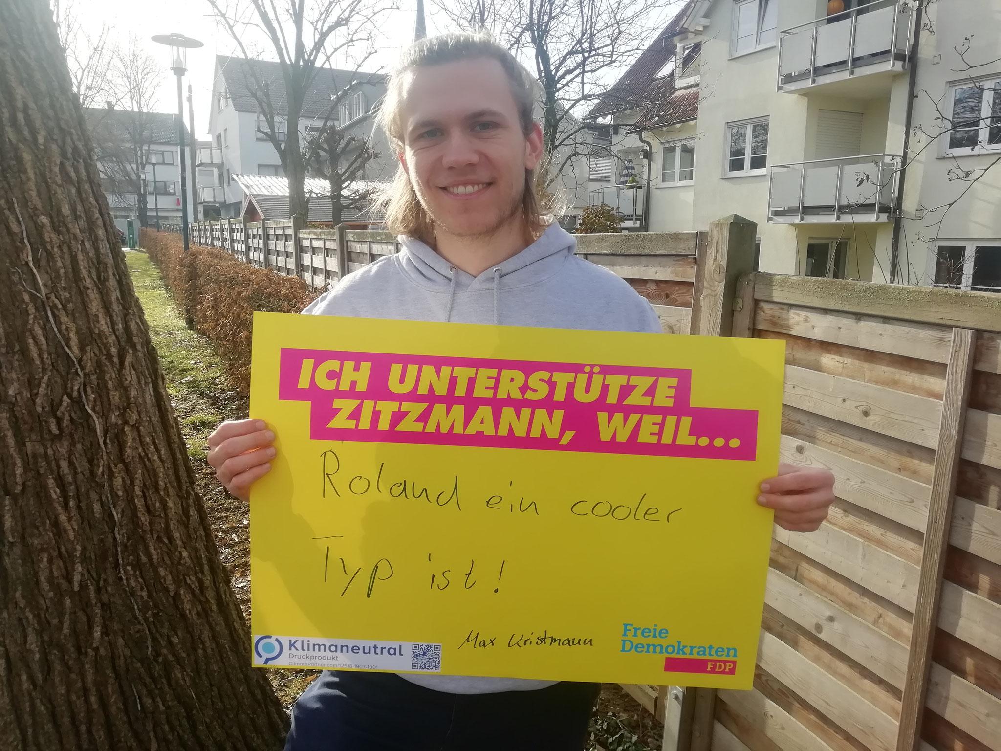 Max Kristmann, Vorsitzender der JuLis Kreisverband Ludwigsburg