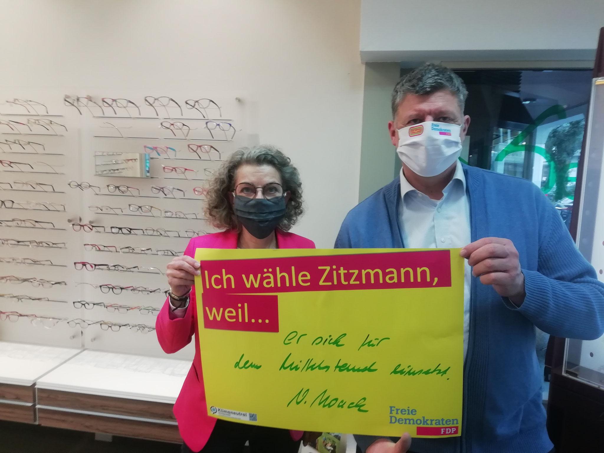 Viola Noack, Unternehmerin - mit Roland Zitzmann