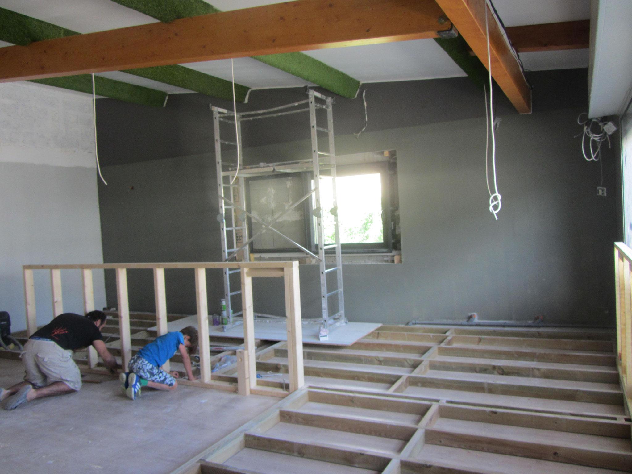 Construction de la structure du bar