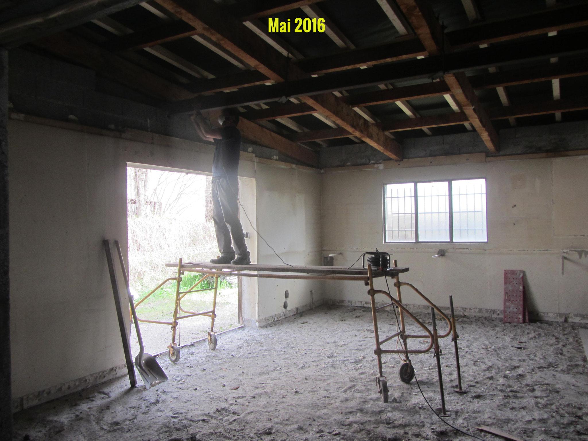 Début des travaux dans la salle de brassage Archimalt