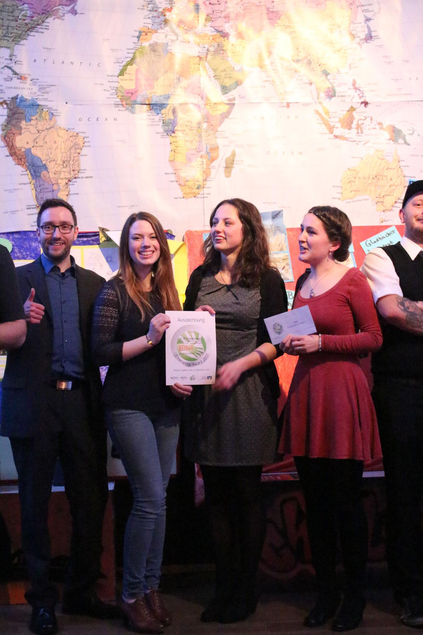 Mit unserer Bewerbung für den Travel-Award (Zeltlager 2017) haben wir leider nicht diesen Preis, dafür aber den Präsentations-Award gewonnen