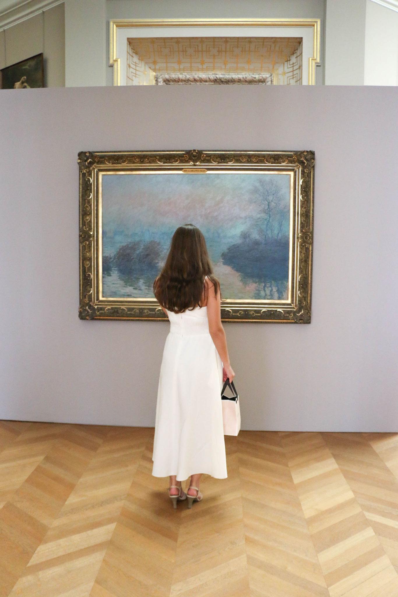 White Dress Paris Monet  Carmen Schubert