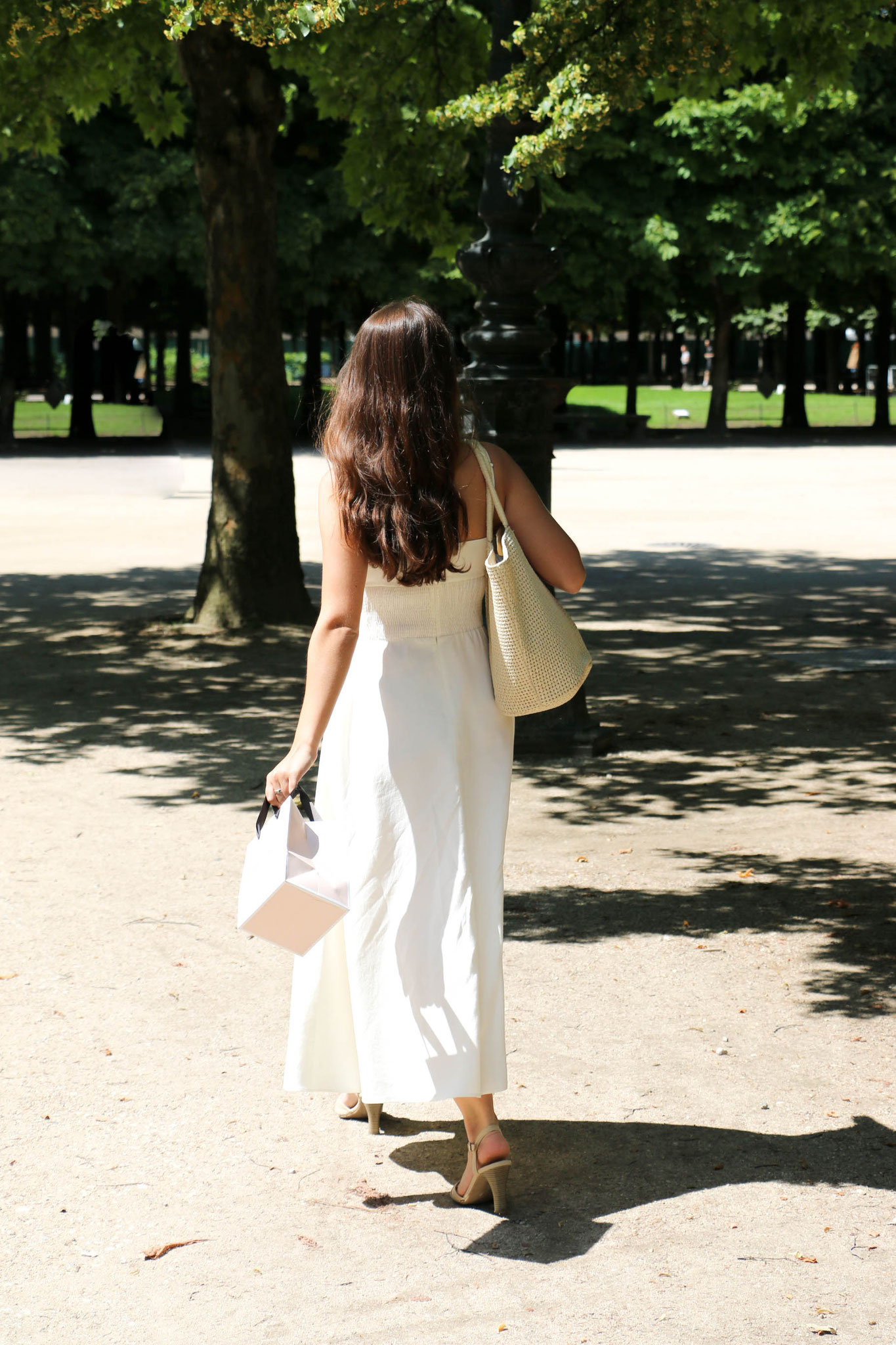 by Carmen Schubert White Zara Dress Paris