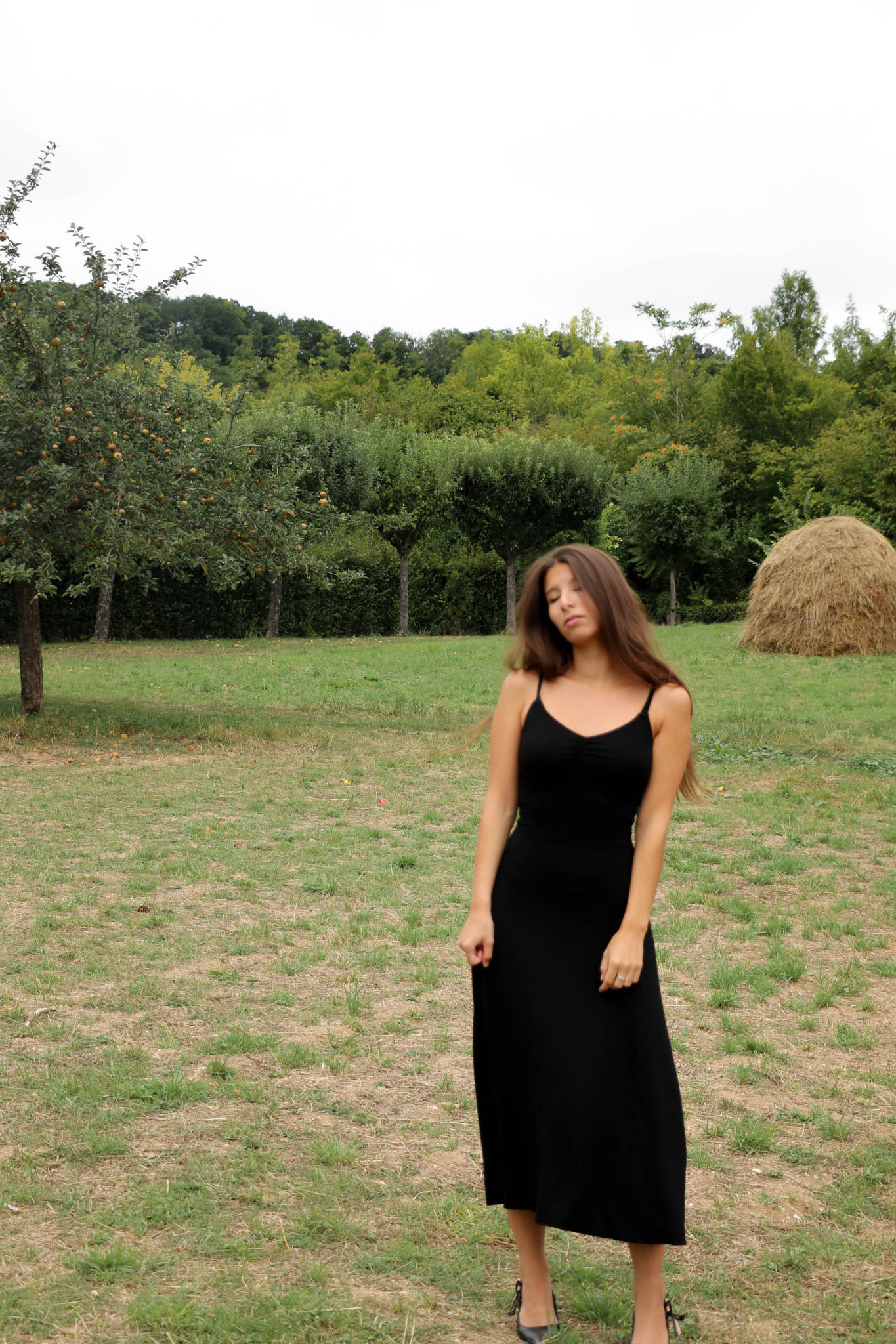 Black Summerdress, Giverny France, Carmen Schubert