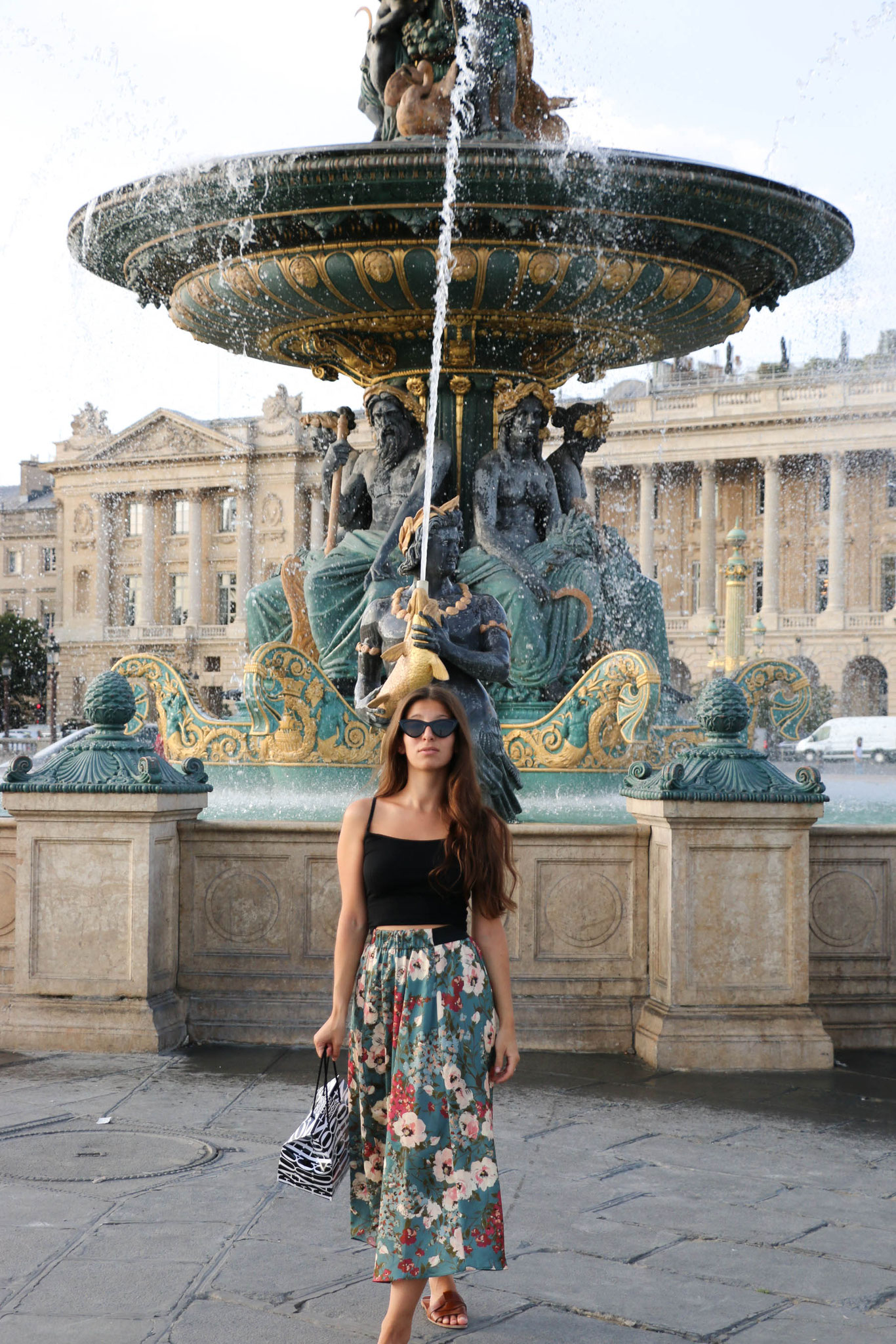 Paris, Place de la Concorde, Summeroutfit, Carmen Schubert