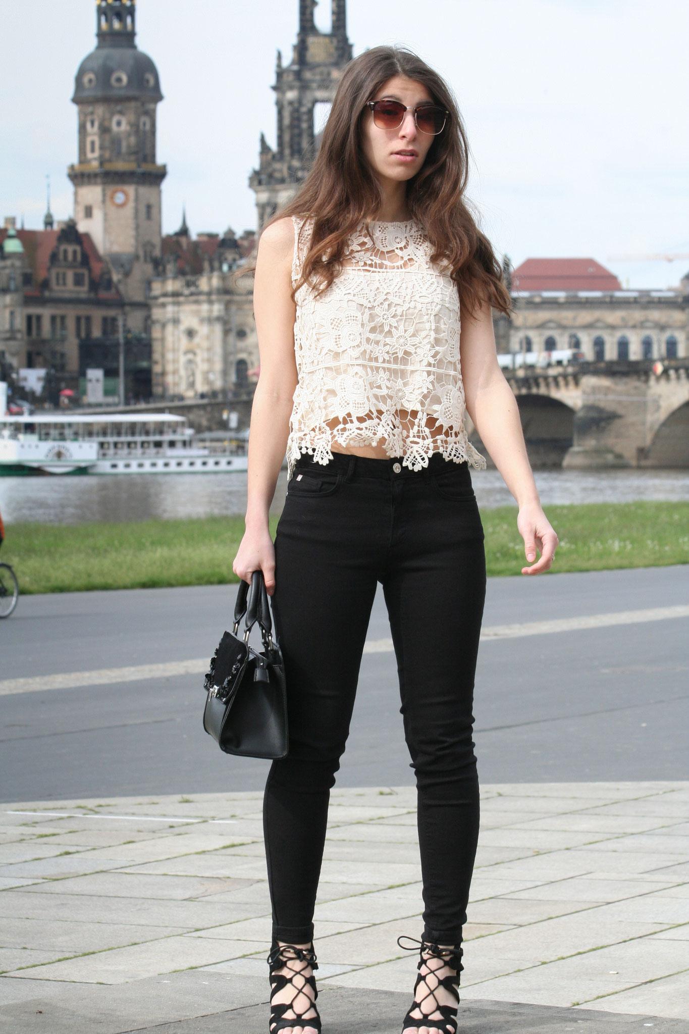 Spitzentop Spitzenoberteil Zara Modeblog Carmen Schubert Modeblog Deutschland