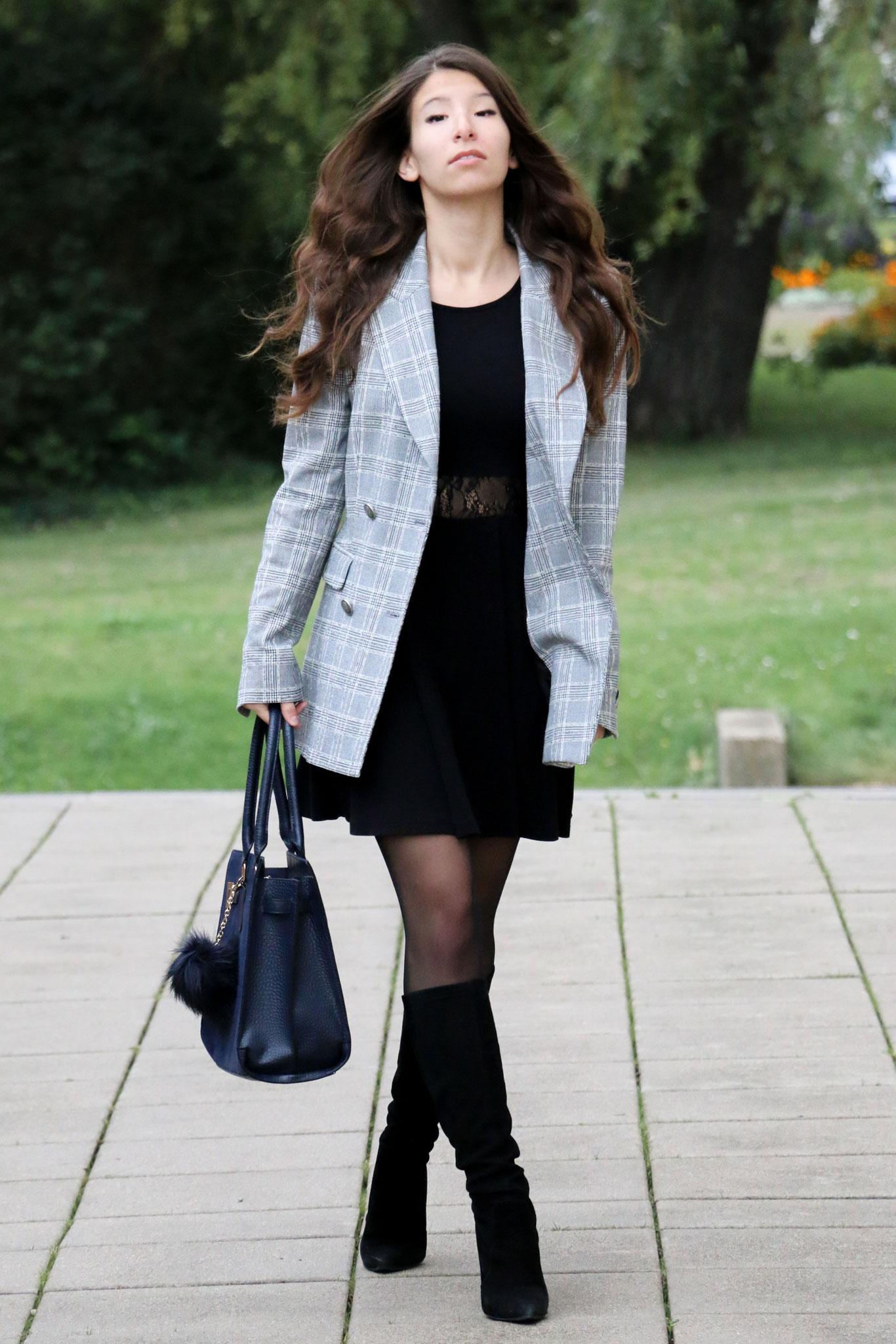 by Carmen Schubert Zara Blogger Mantel Blazer kariert Karo