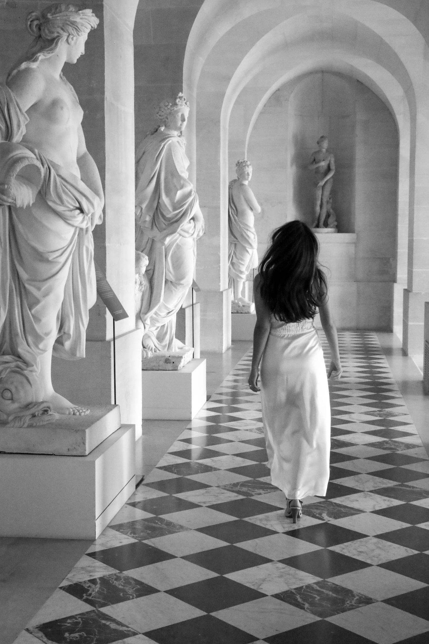Satin Lingerie Dress, Versailles, Carmen Schubert