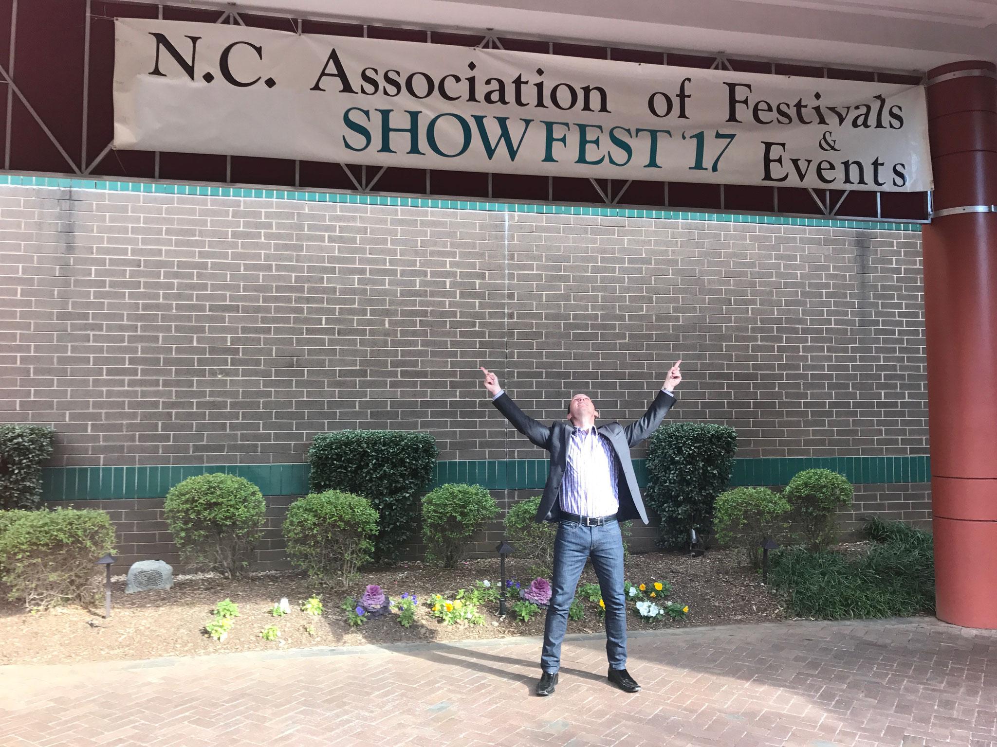 Speaker, Dr. Kevin Snyder, attending the N.C. Association of Festivals & Events  SHOWFEST '17