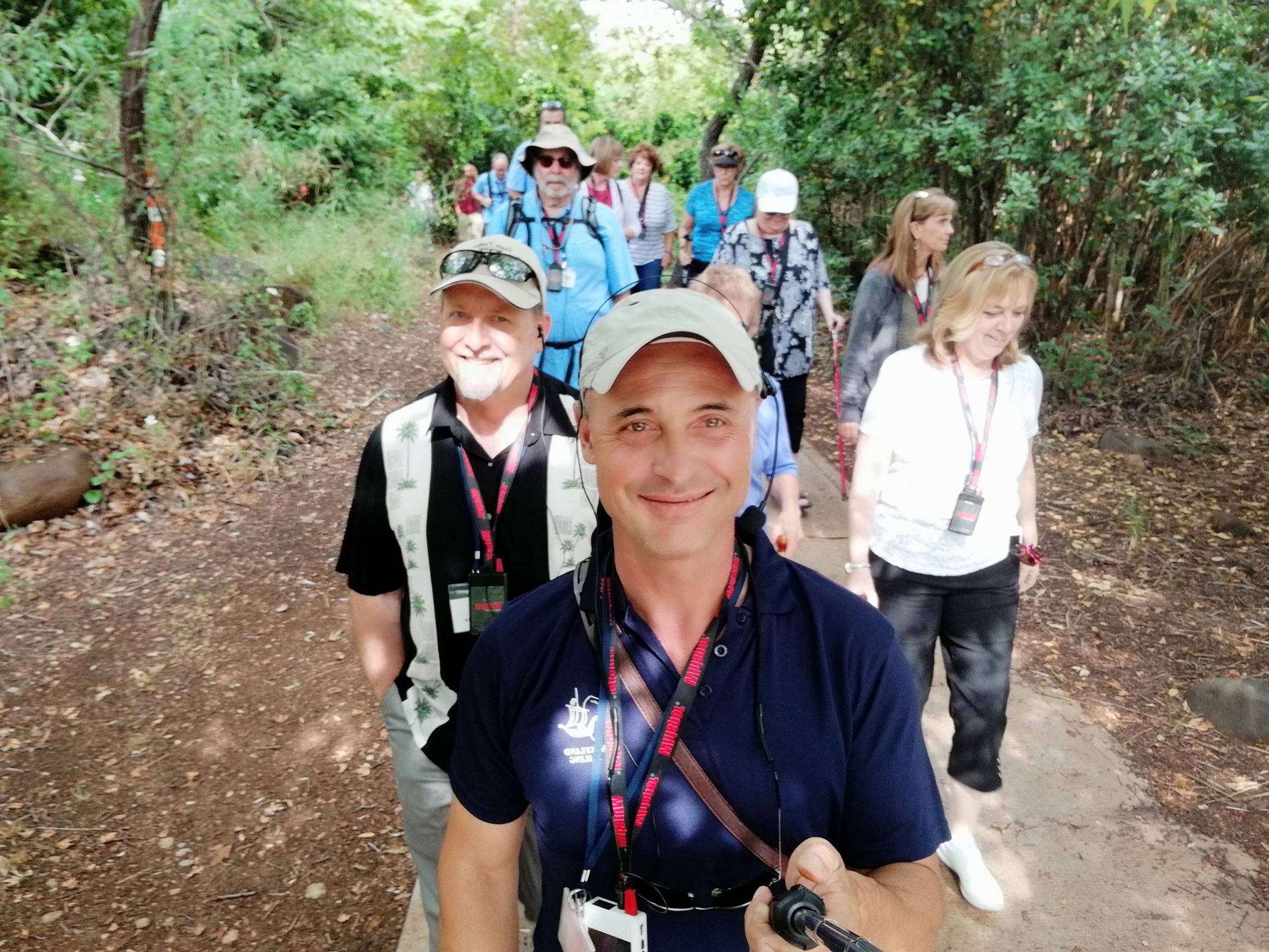 On the path with the group from Texas, 2018