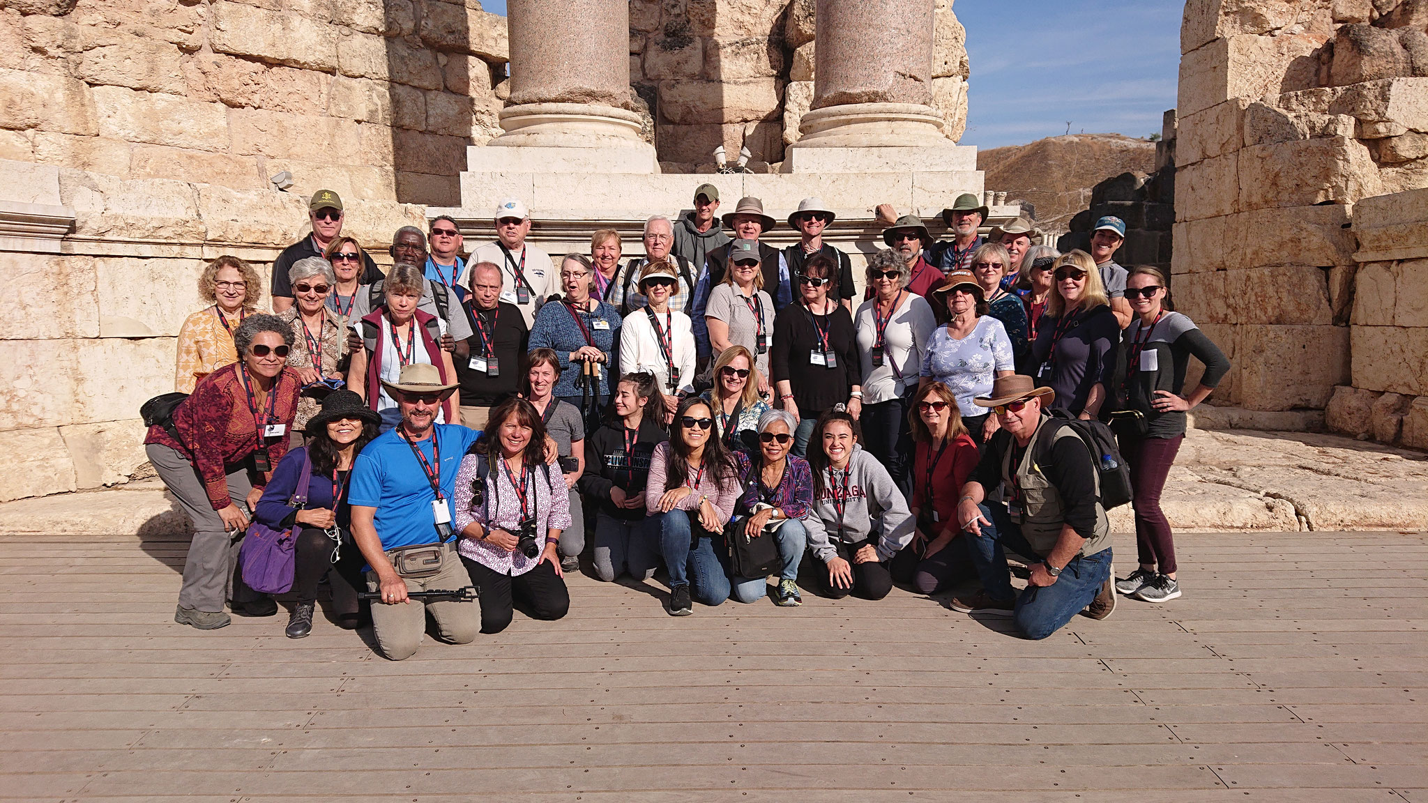 A group from CA in Beth Shean Theater