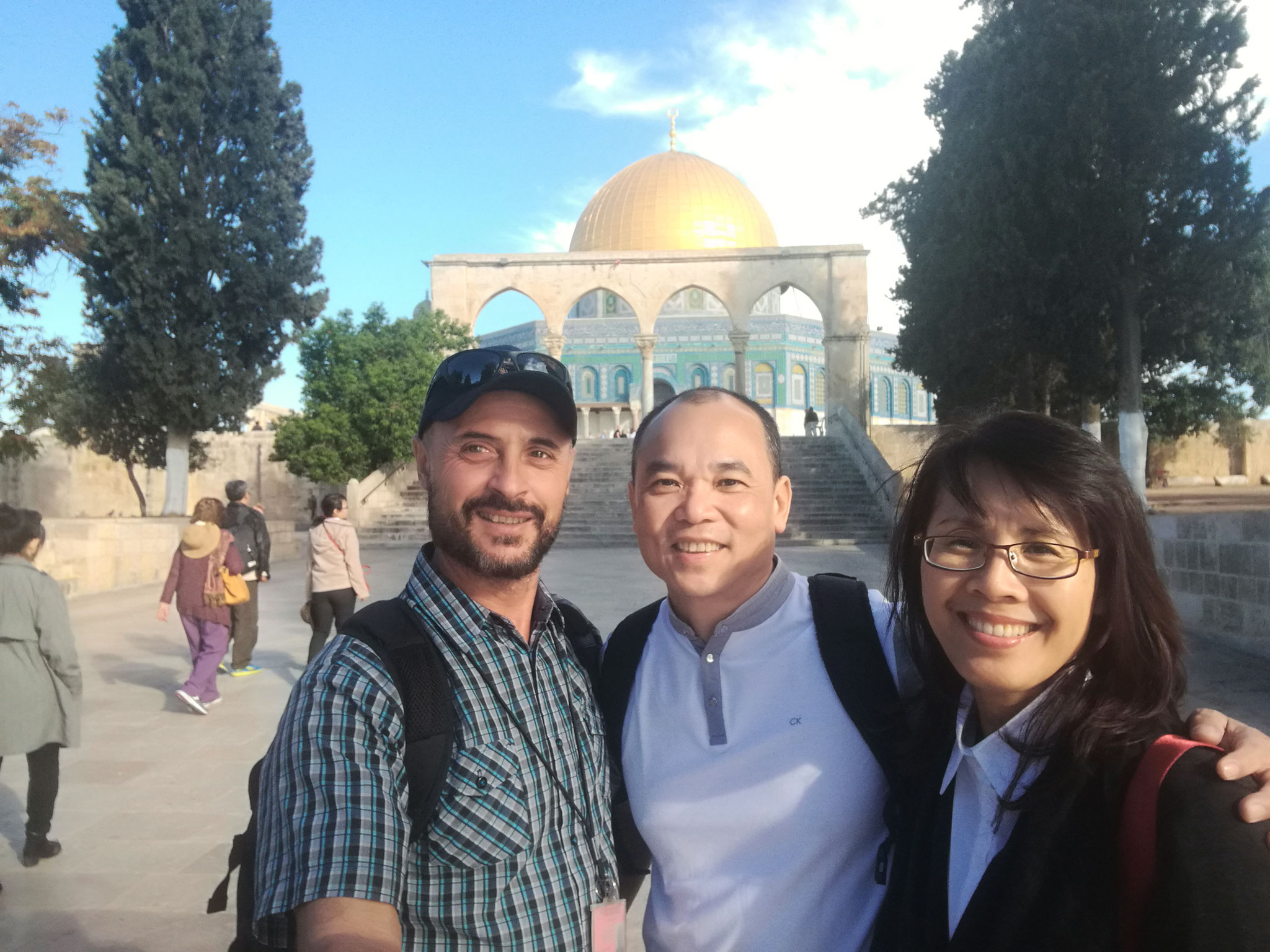 Seventh Day Adventists on the Temple Mount in Jerusalem, 2017