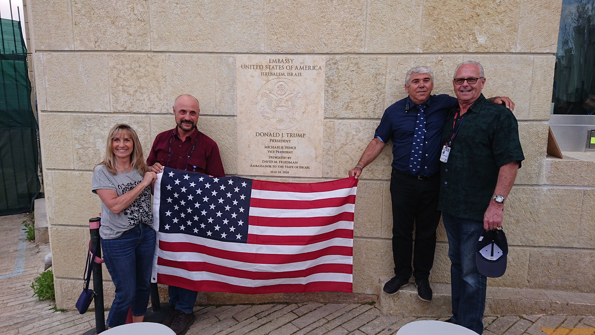 At the US Embassy in Jerusalem