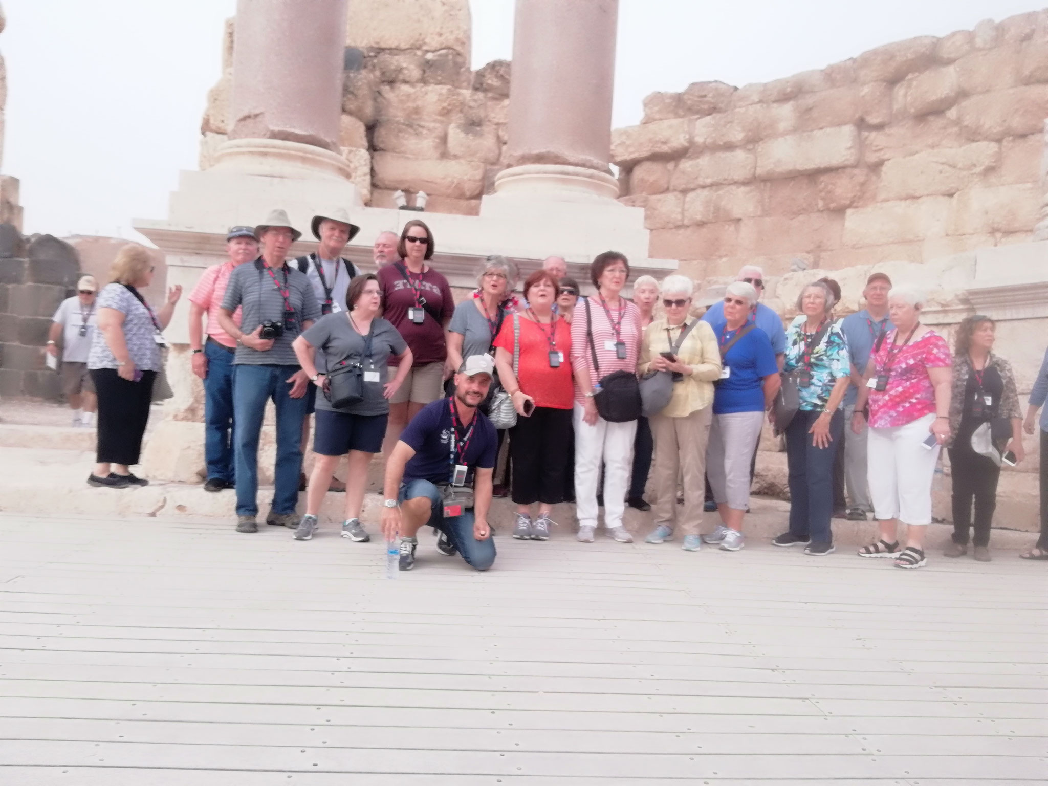 On the stage of Beth Shean's ancient theater
