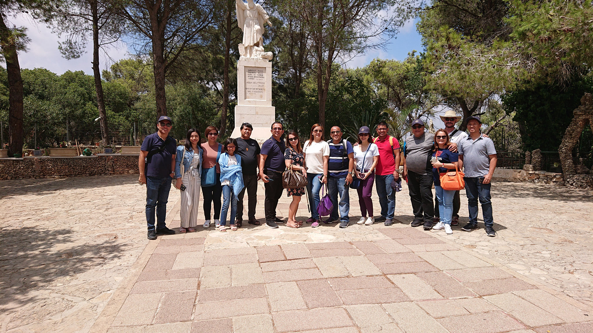 Group from Philippines on Mount Carmel, 2019
