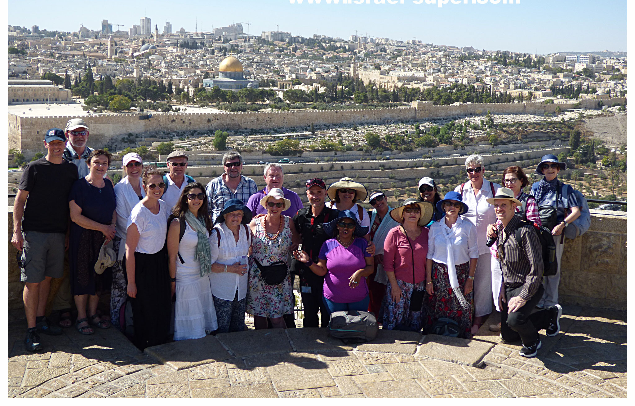 With the South African group on top of Mount of Olives, 2014