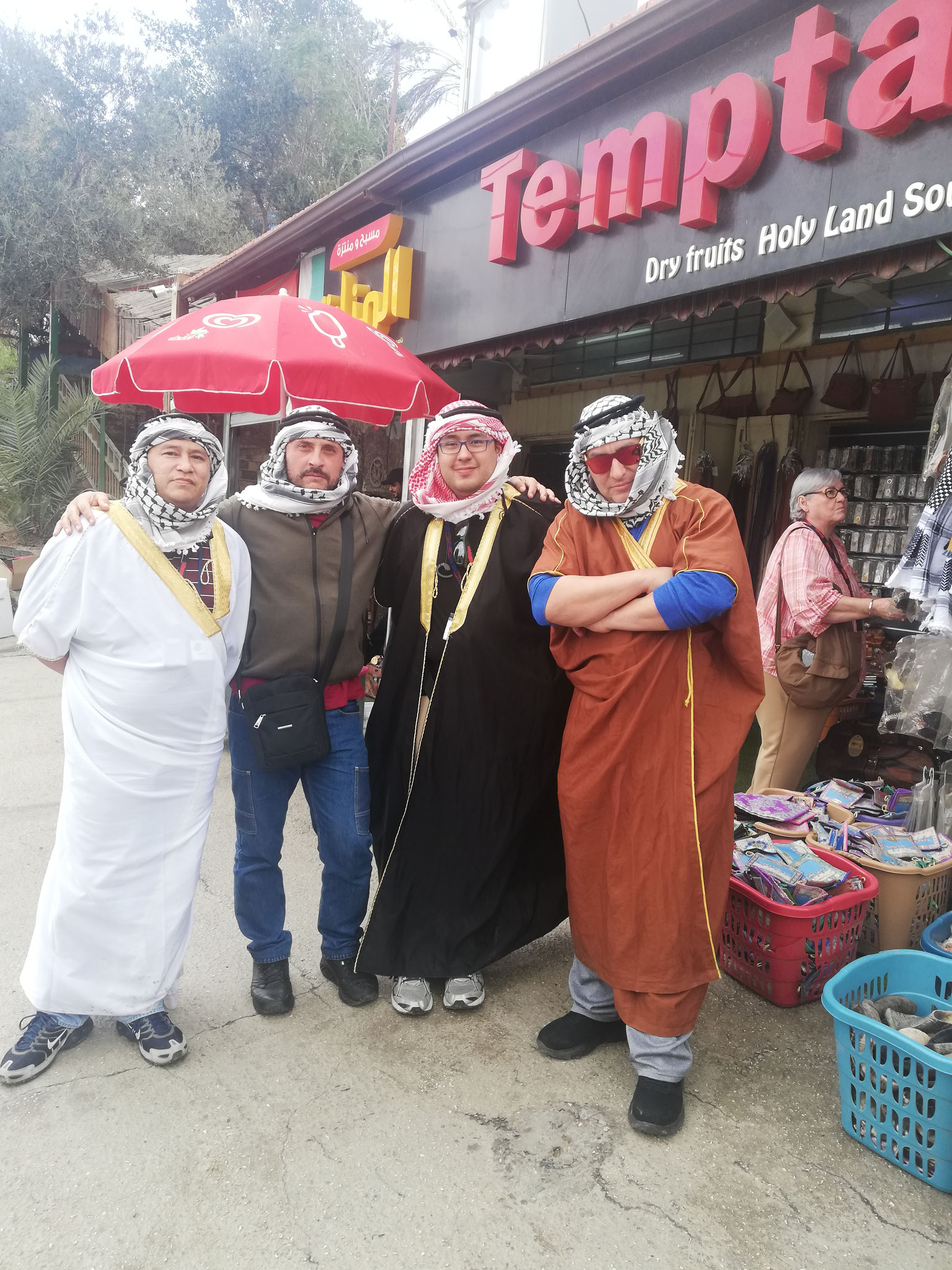 With the Native Americans dressed up like Native Bedouins