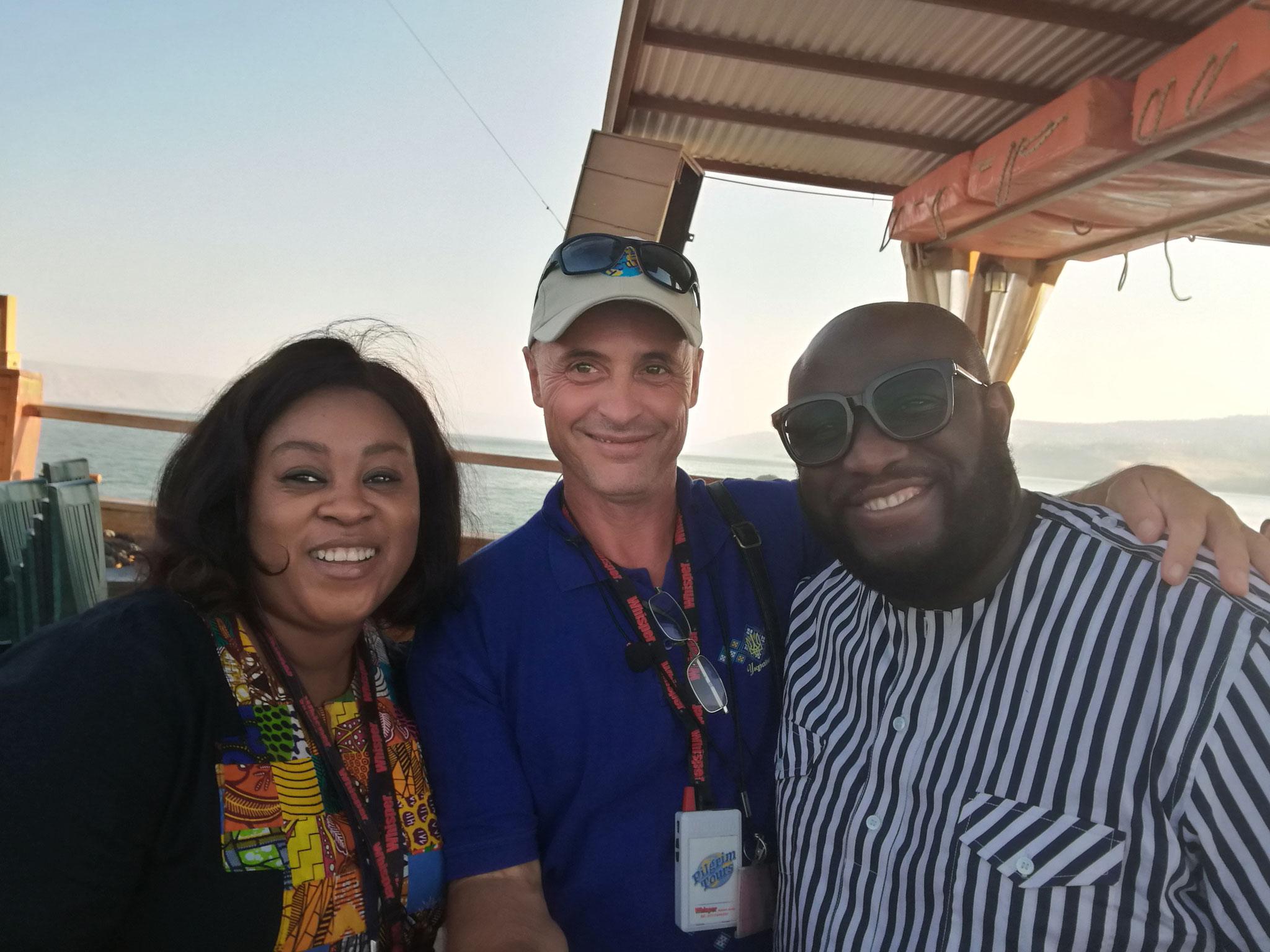 Nigerian friends in Israel, 2017