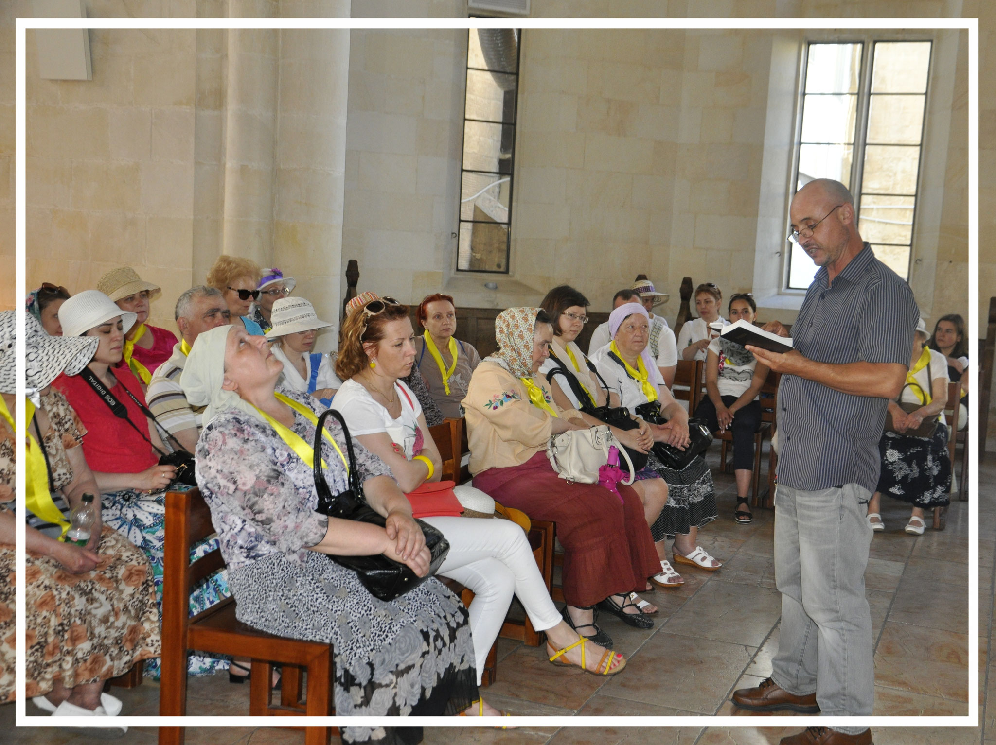 Reading the Holy Scripture with the group from Belarus, 2013