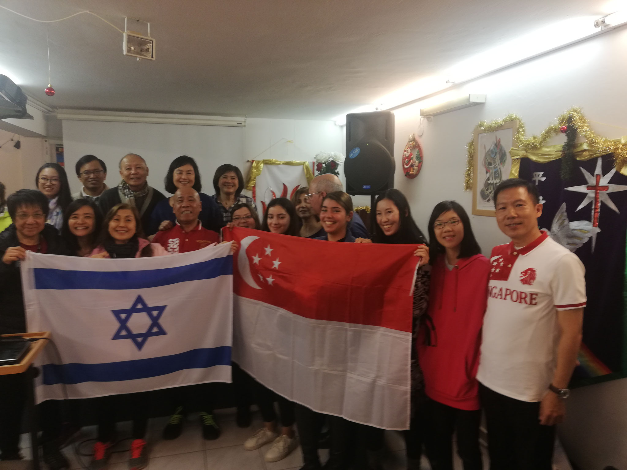 Friends forever! A group from Singapore in Israel, 2018