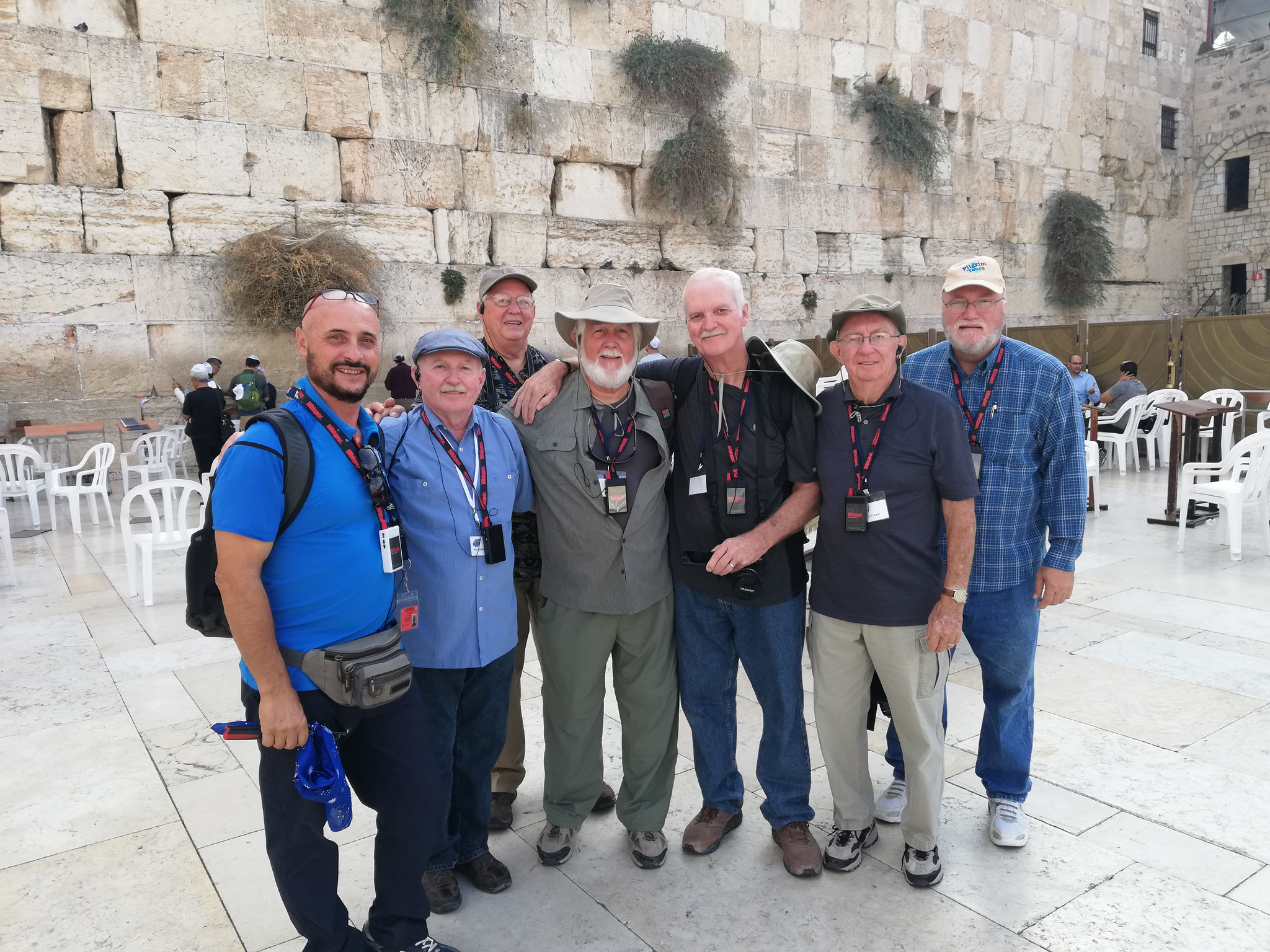 With the guests from Texas at the Western Wall, 2018