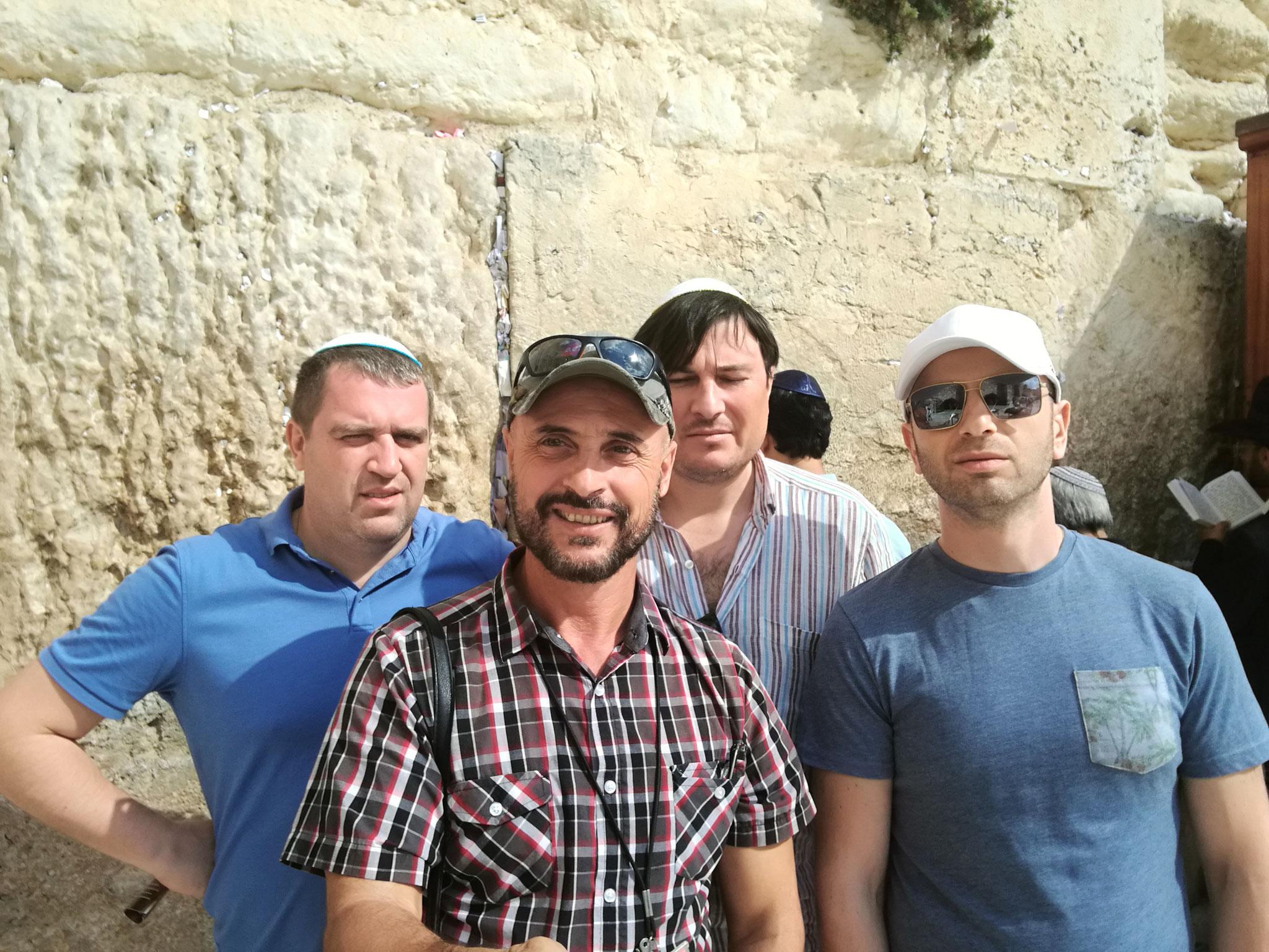 Ukrainian Jewish tourists at the Western Wall