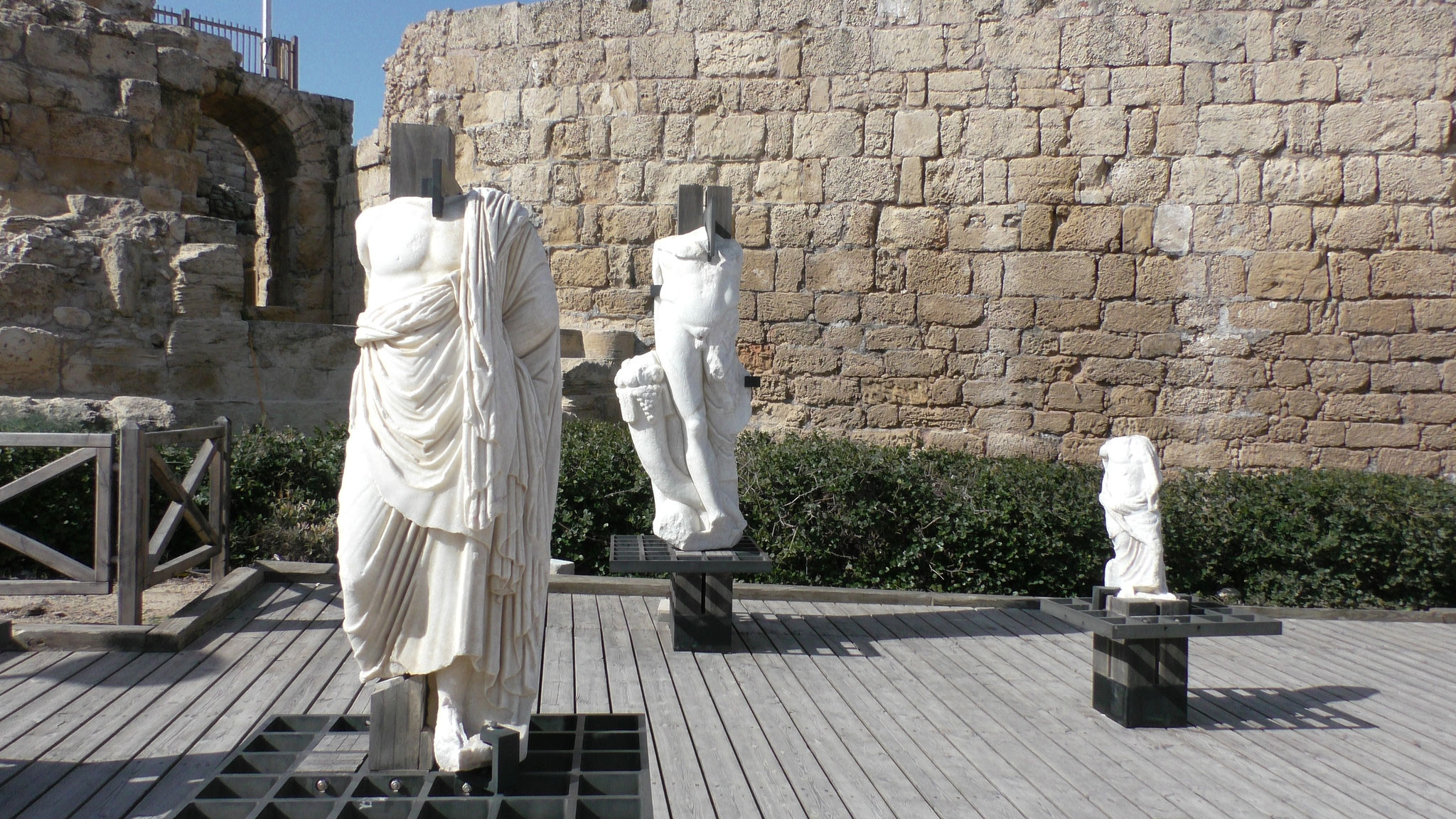 Classical Greek statues in Ceasarea