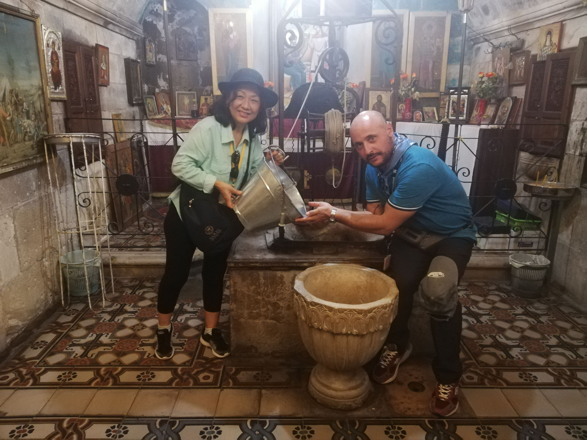 At the well of Jacob in Shechem (John 4:7), 2018