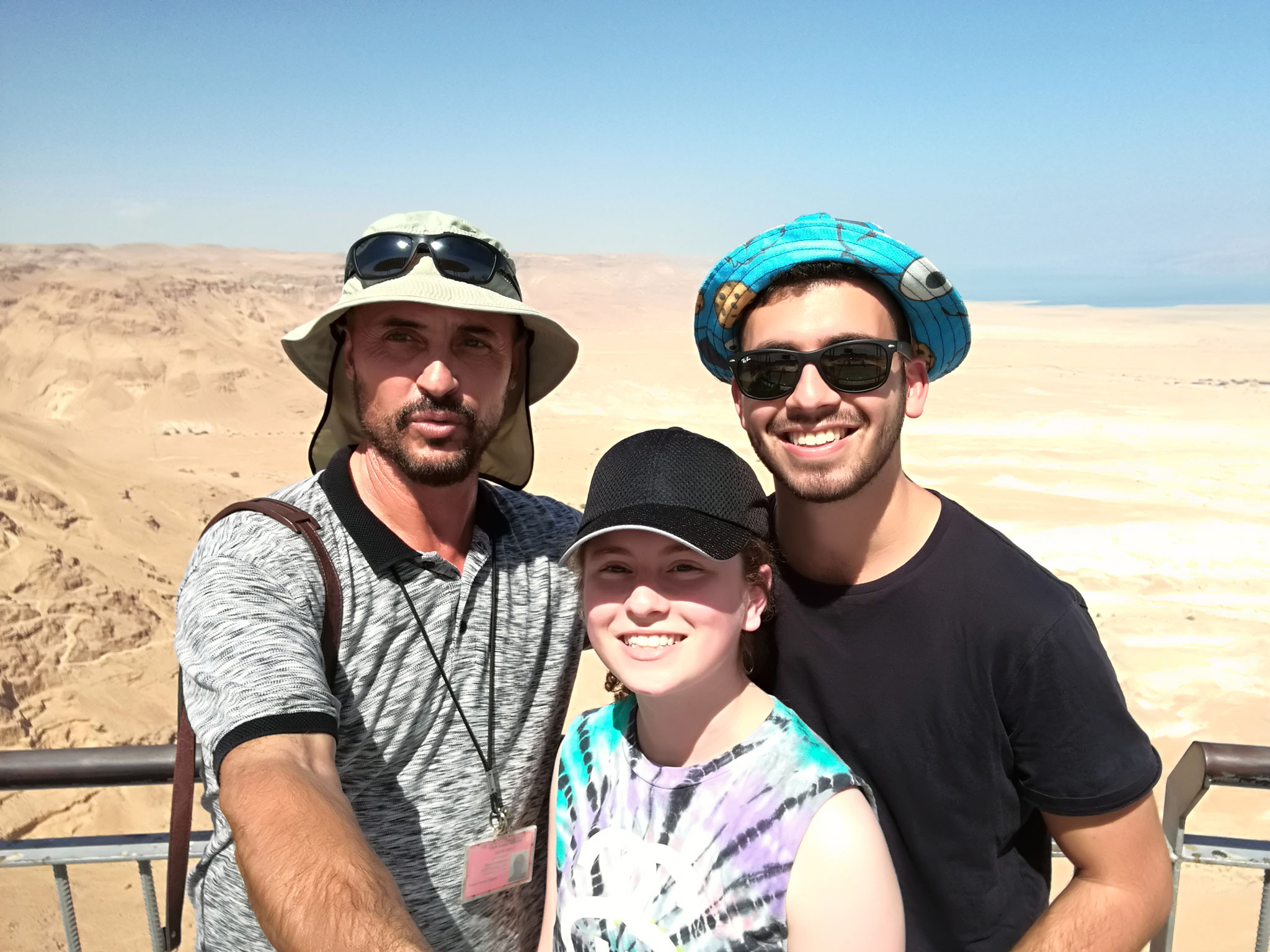 On top of Masada with Jewish American guests, 2016