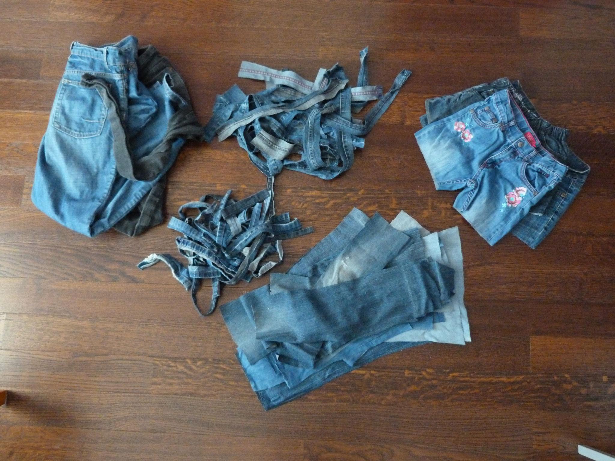 Préparation des jeans