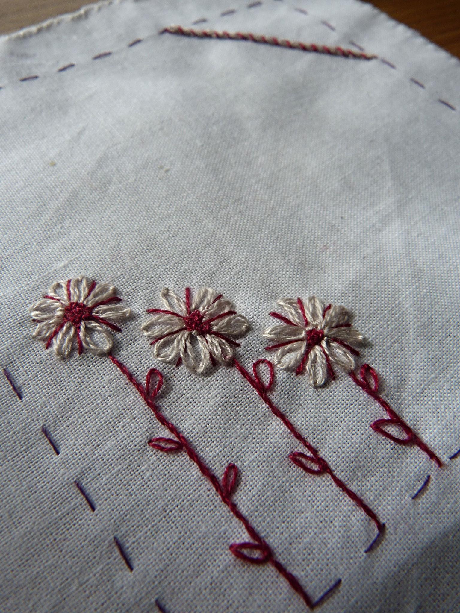 Fleurs sur le deuxième sampler