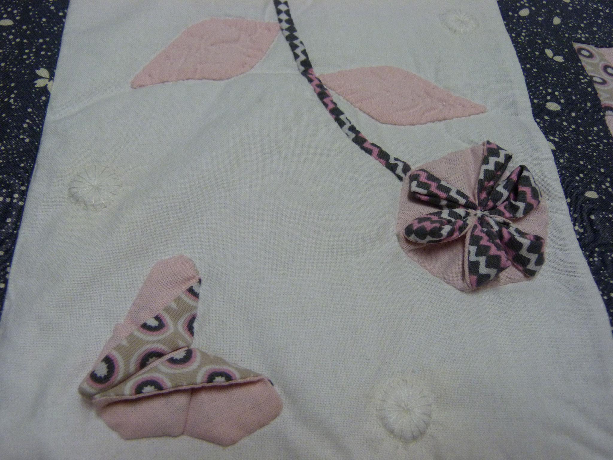 Papillon et fleur en origami