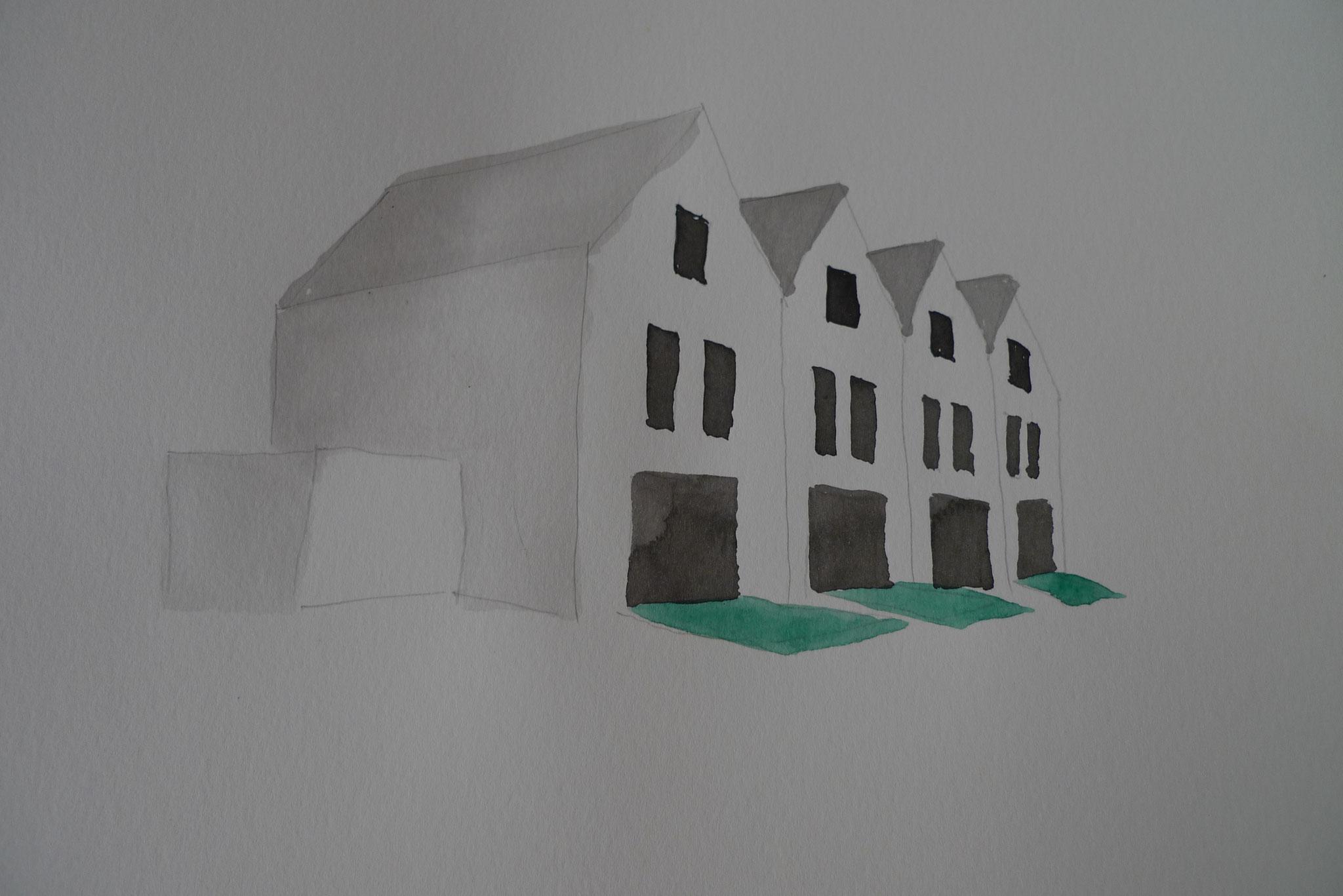 Tuschezeichnung; 2011; Tusche auf Papier; 21 x 29 cm