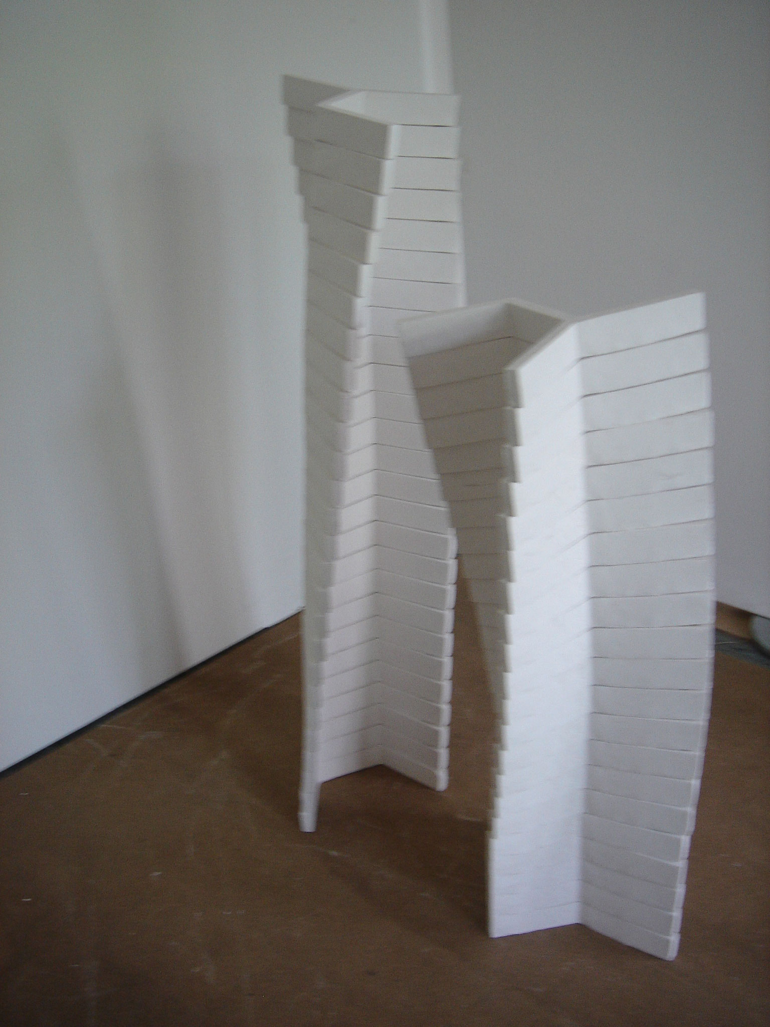 Turning towers; Gipsmodule 180 x 160 cm