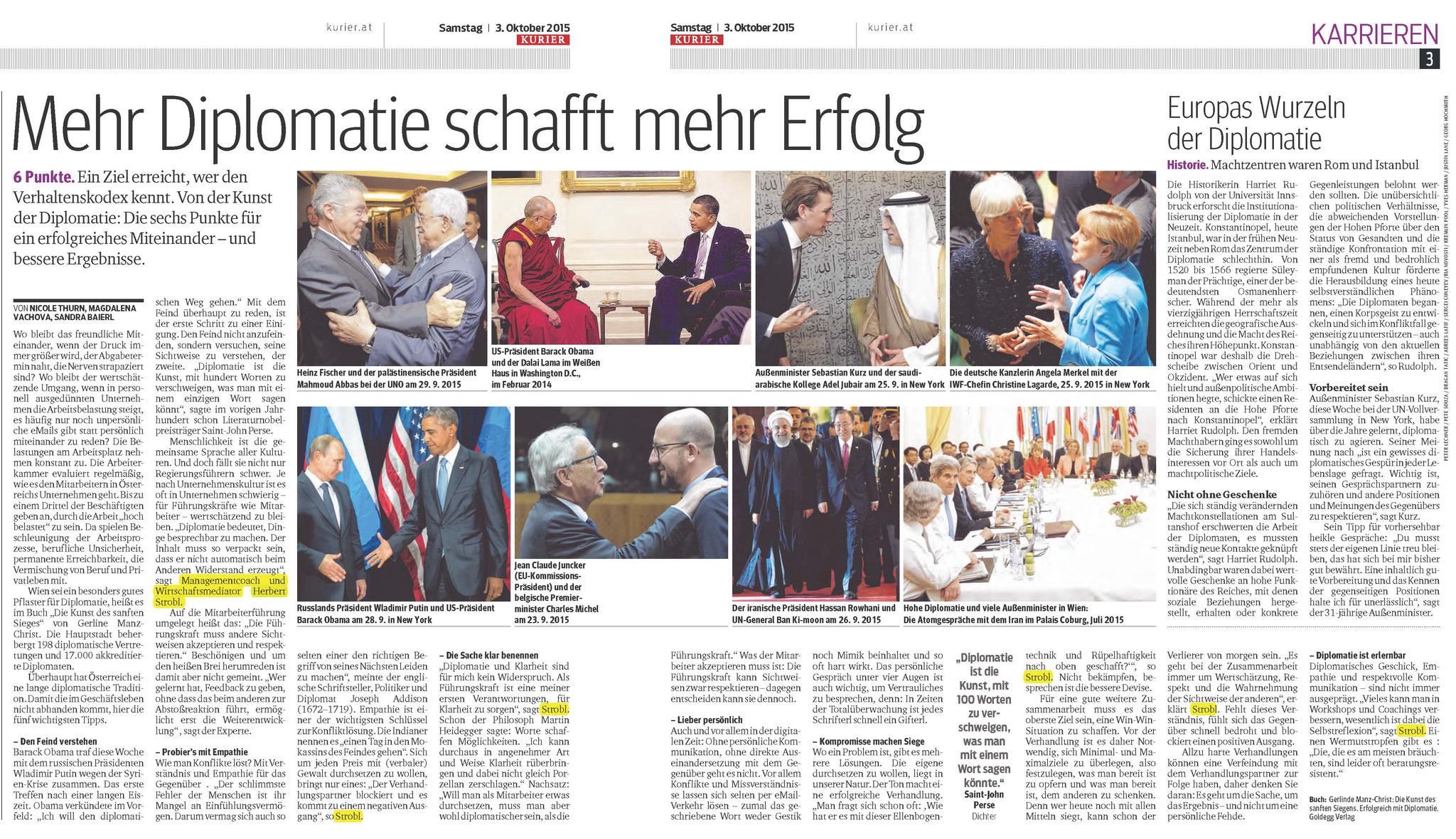 Mehr Diplomatie schafft mehr Erfolg 2