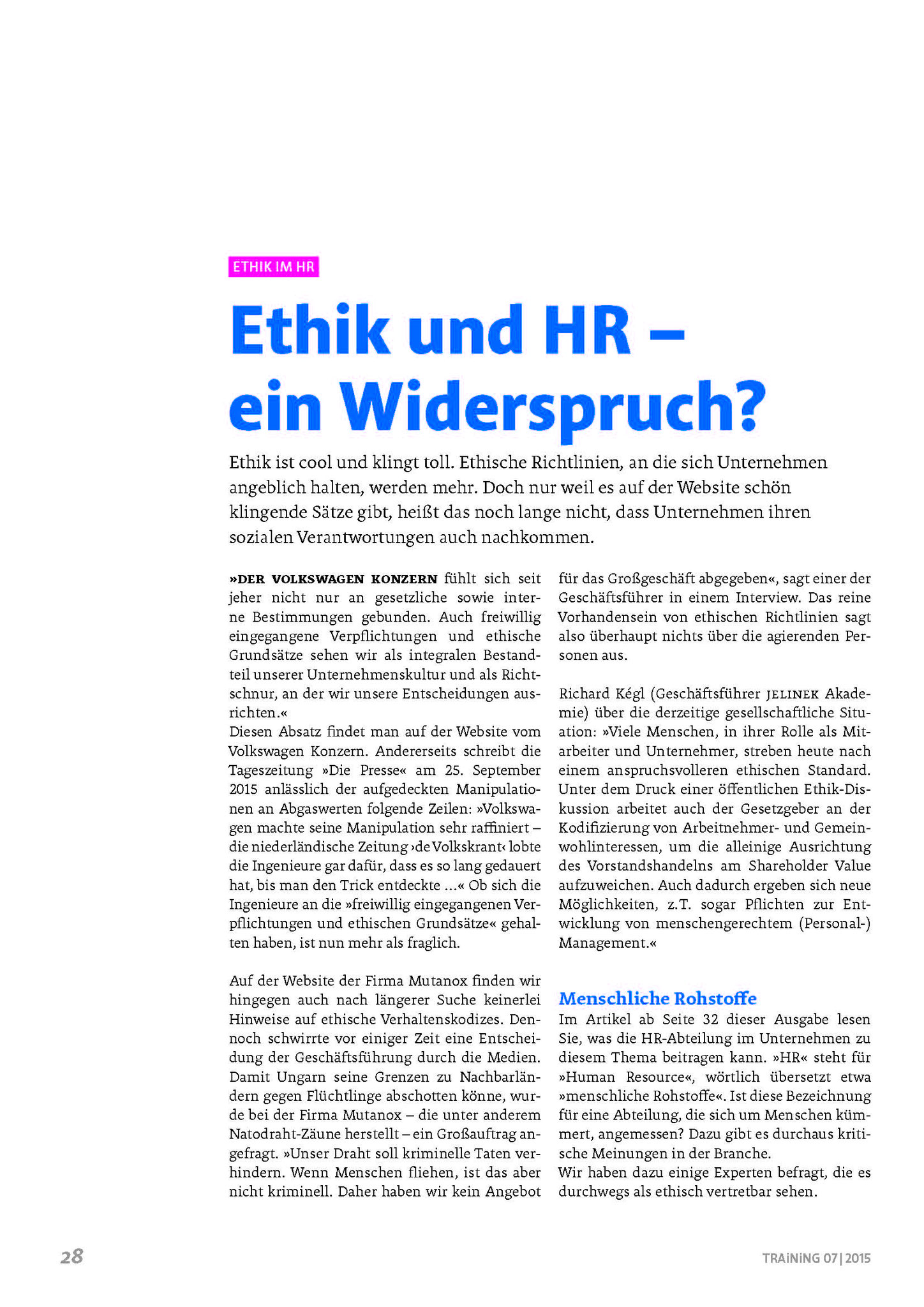 Ethik und HR - Ein Widerspruch? Seite 4