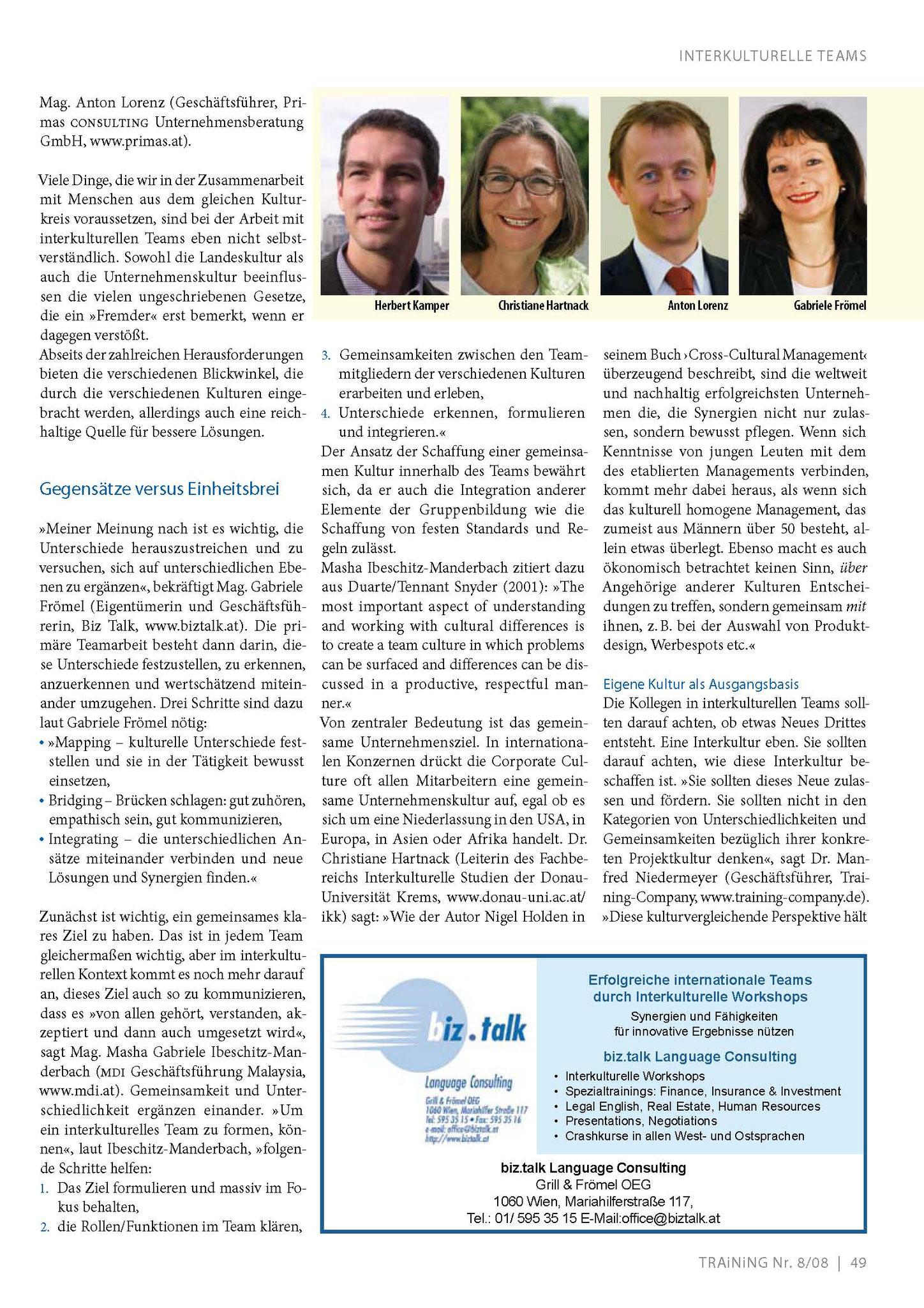 Interkulturelle Teamarbeit_TRAiNiNG Dez. 2008_Seite_2