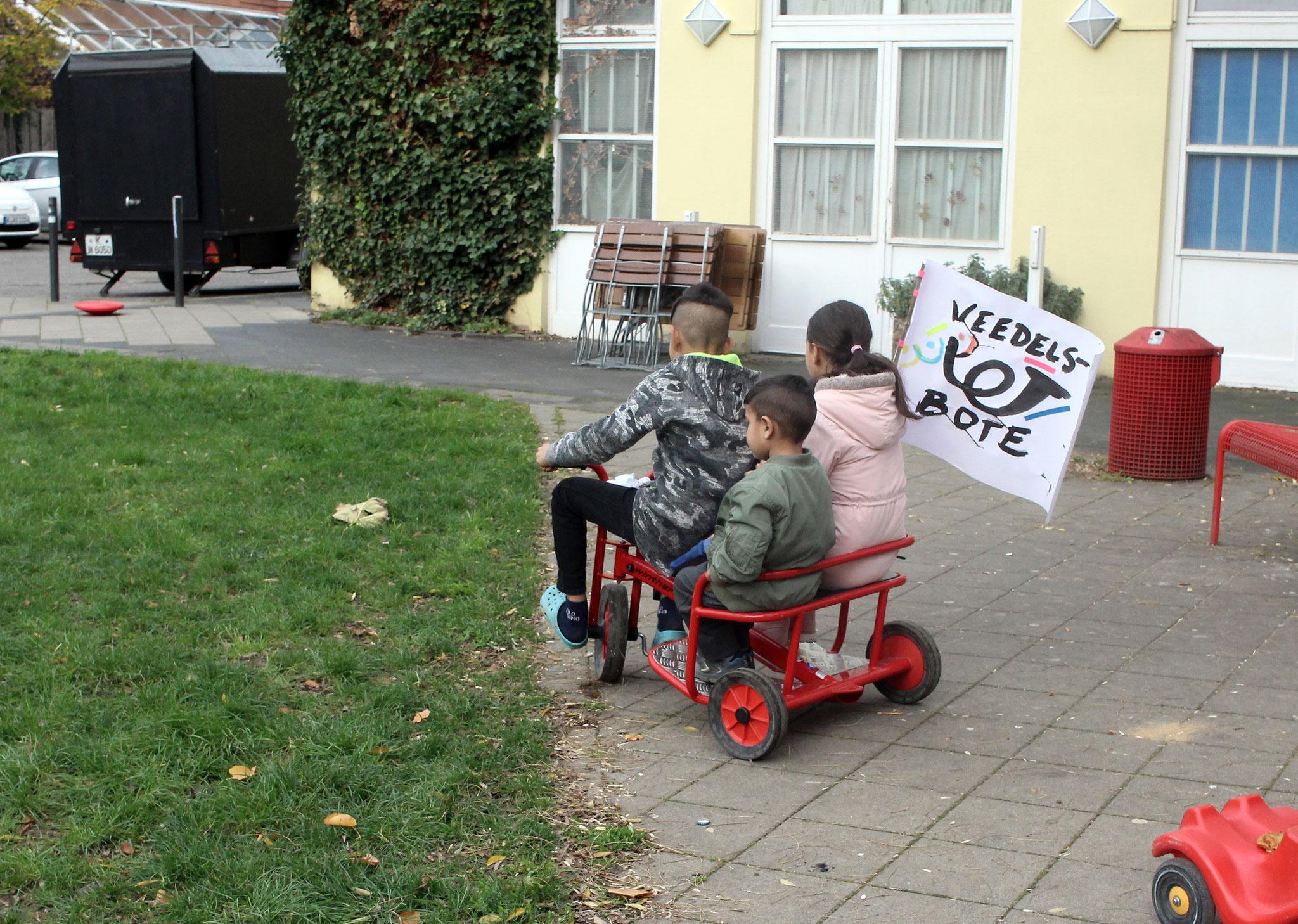 Veedels-Bote(n) unterwegs im MüTZe Park.