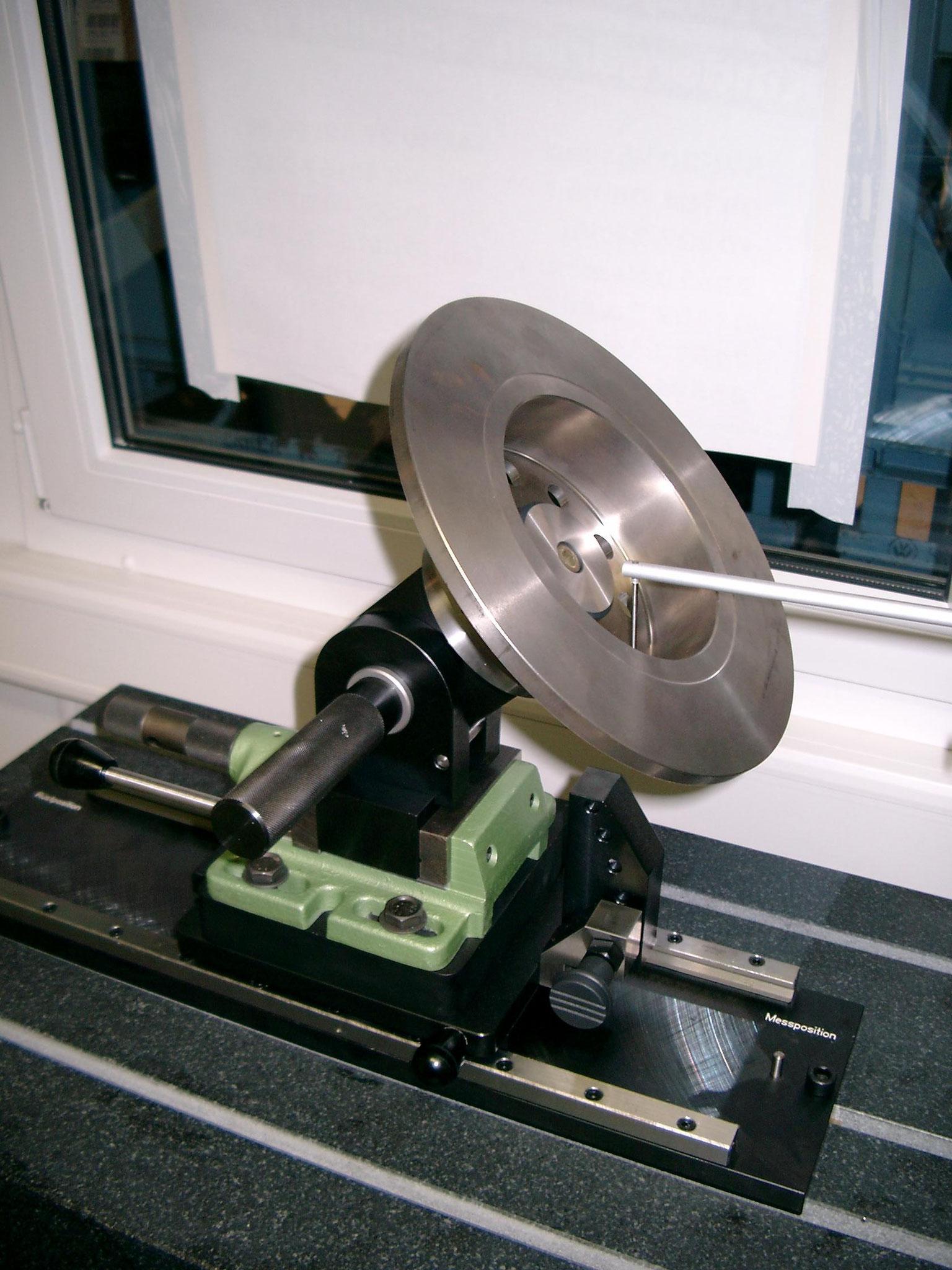 Aufnahmevorrichtung für Bremsscheiben