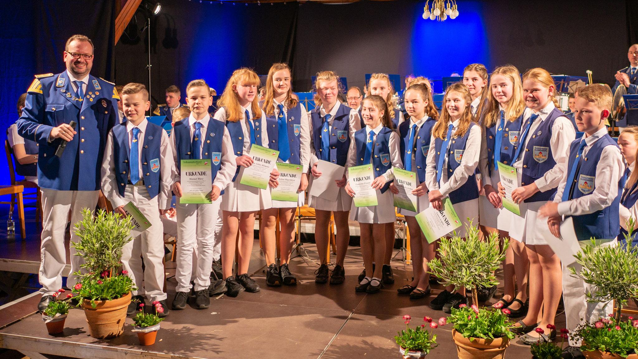 Auftritt beim Frühlingskonzert im April 2019