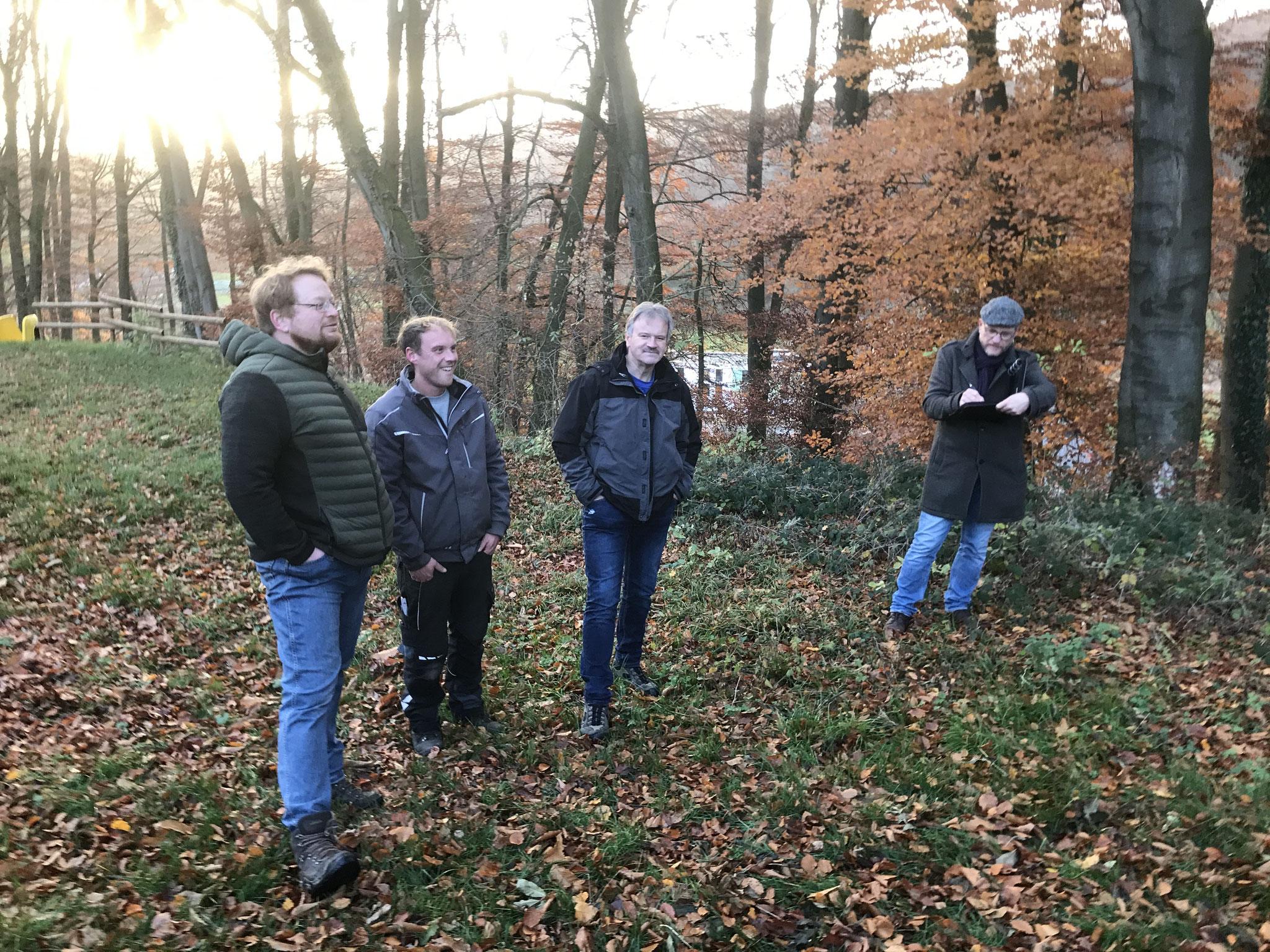 Besichtigung geeigneter Flächen in Ebbinghausen
