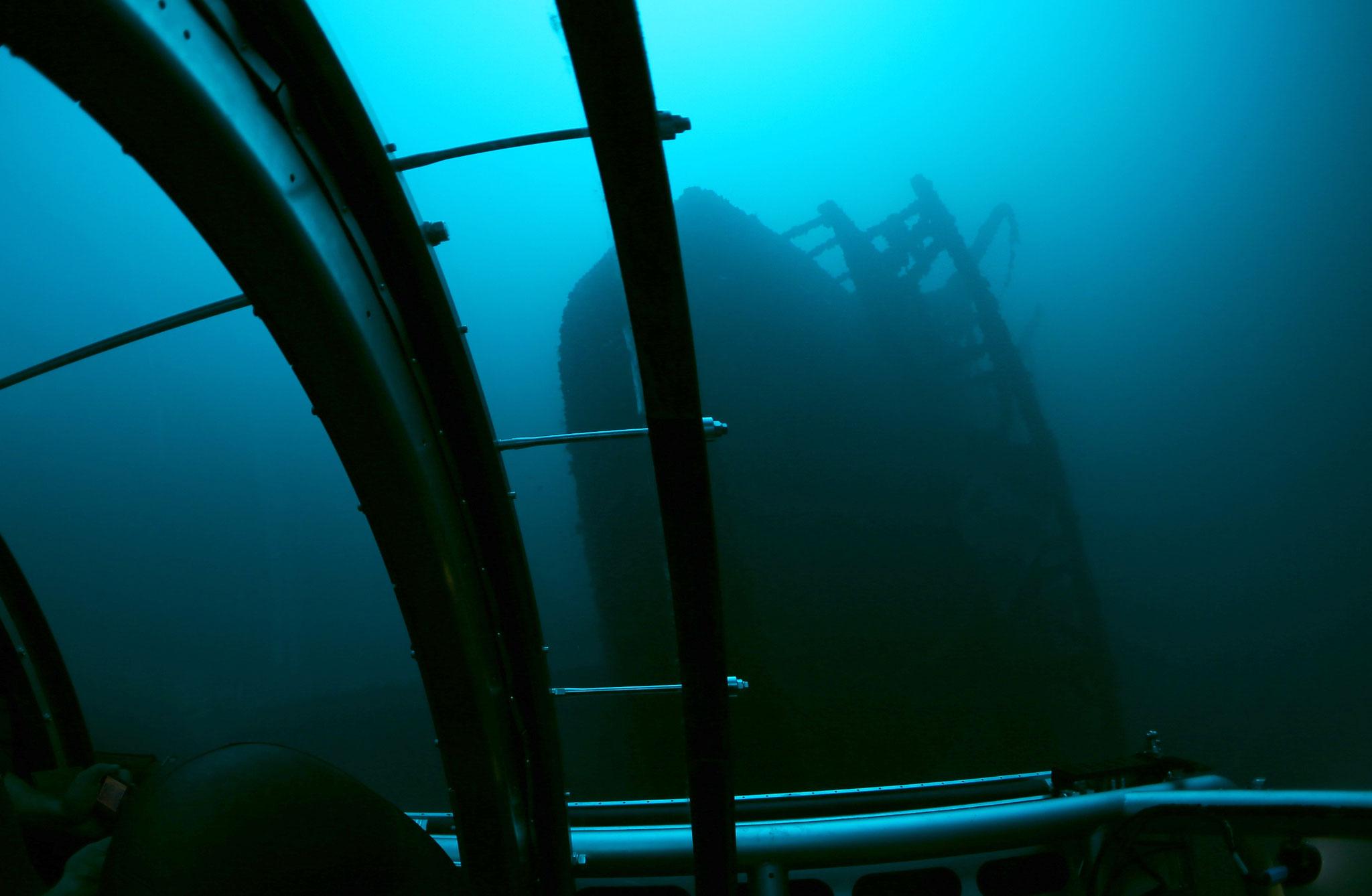 Das Wrack auf 120 Metern Tiefe bei der Insel Kea (© Uboat Malta)