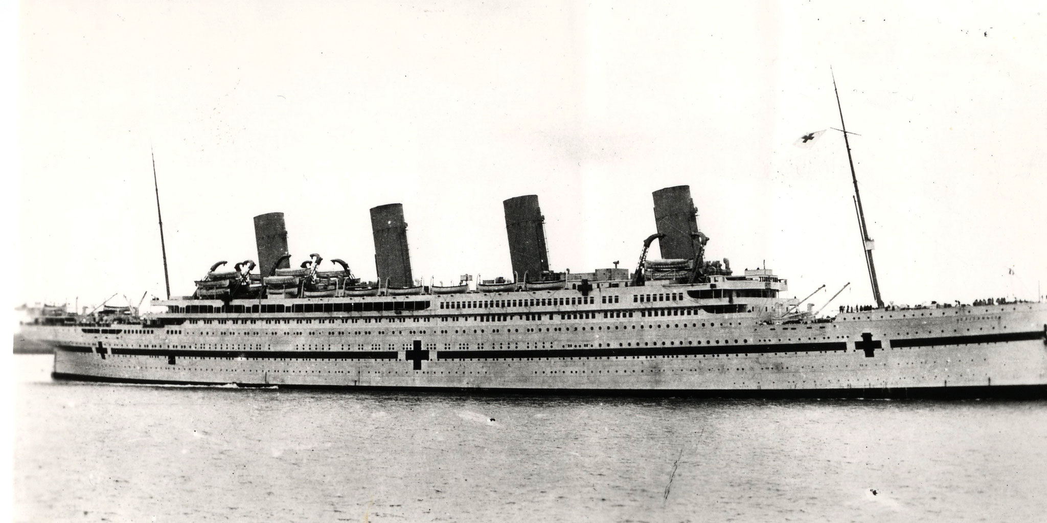 Die Britannic als Lazarettschiff  ca. 1916 /© Alsdair Fairbairn Collection)