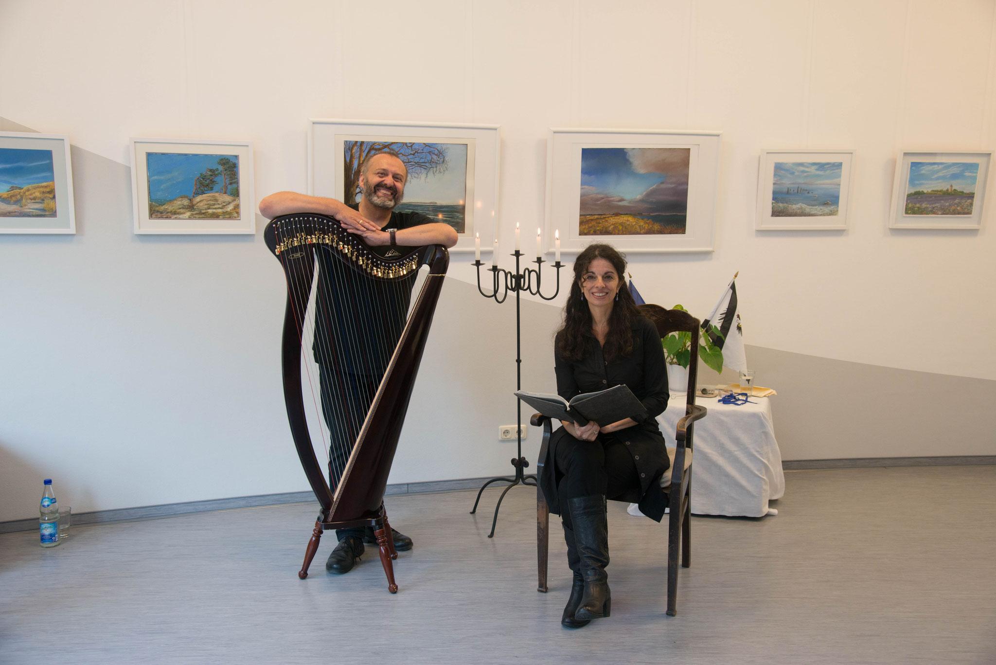 """3. September 2017, Abendsalon zu Gast im Ernst-Moritz-Arndt Museum Garz / Rügen, """"Eine Heinrich-Heine-Collage"""" Sonja Szylowicki, Hamburg und Stefan Battige, Mölln"""