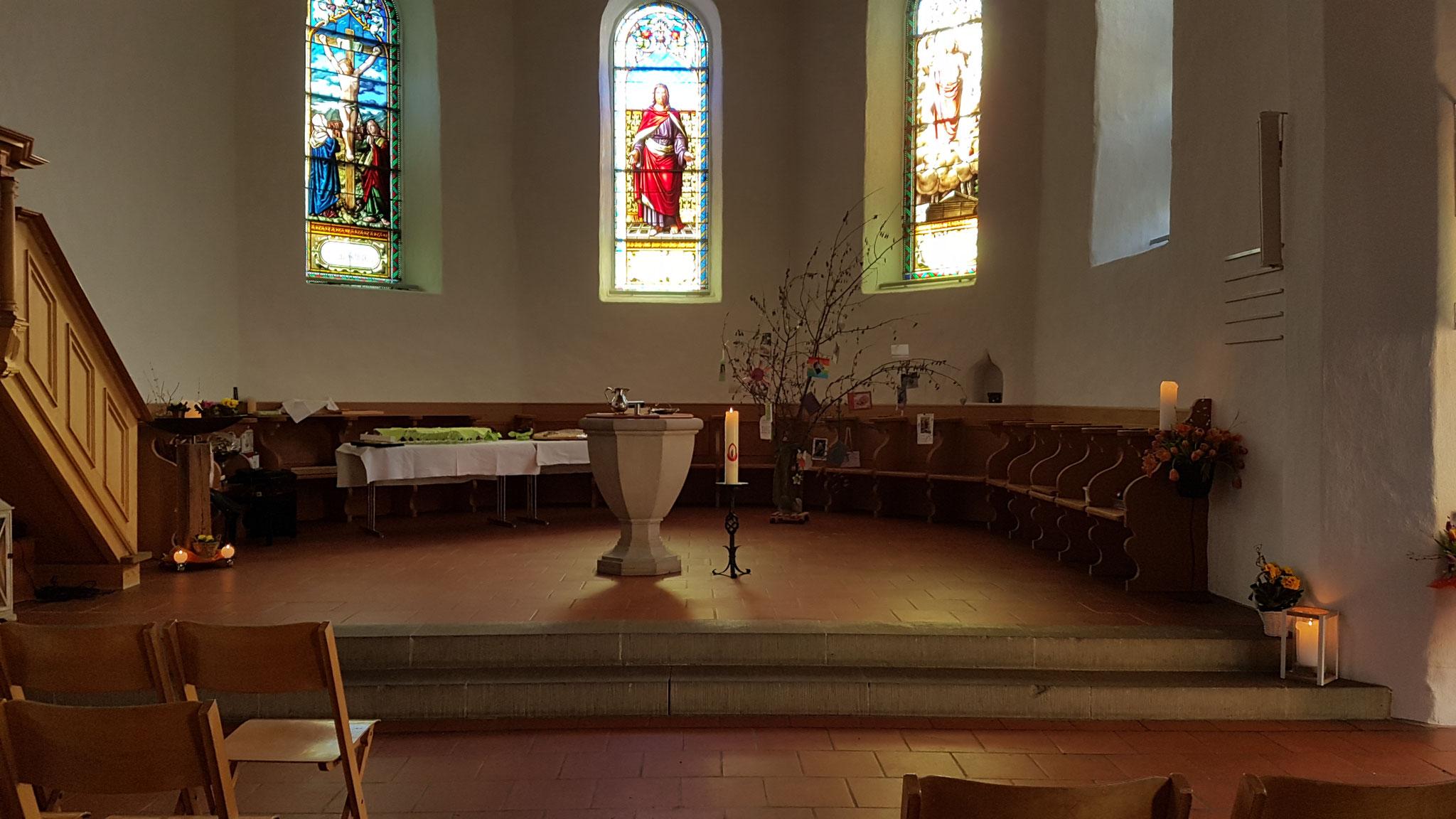 Der Sing-Gottesdienst vom 17. März 2019: Die Kirche ist hergerichtet.