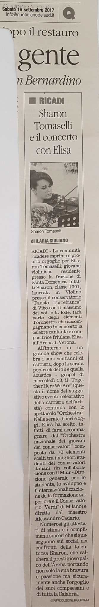 Il Quotidiano del Sud 16/09/2017